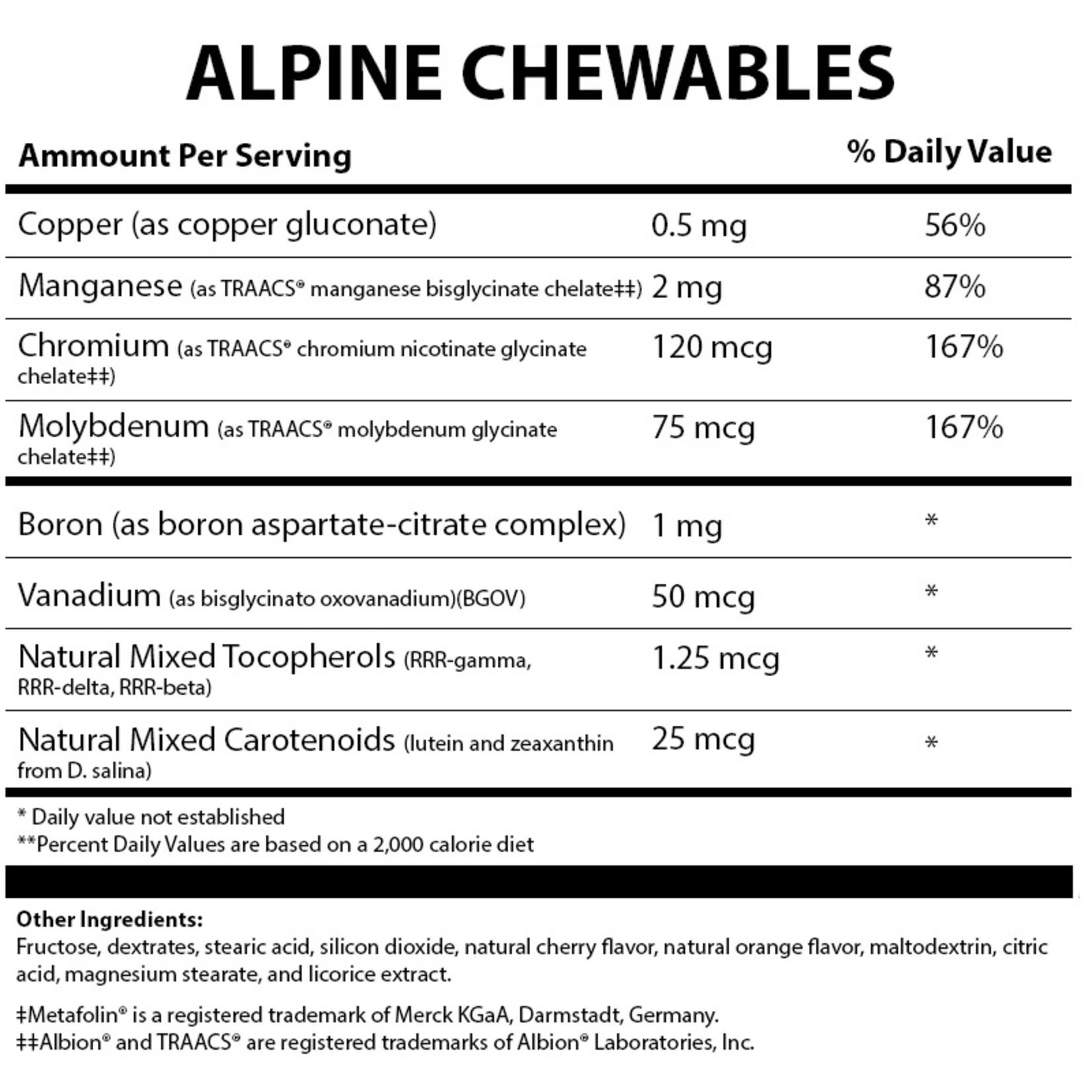 Alpine Clinic Private Label Alpine Chewables