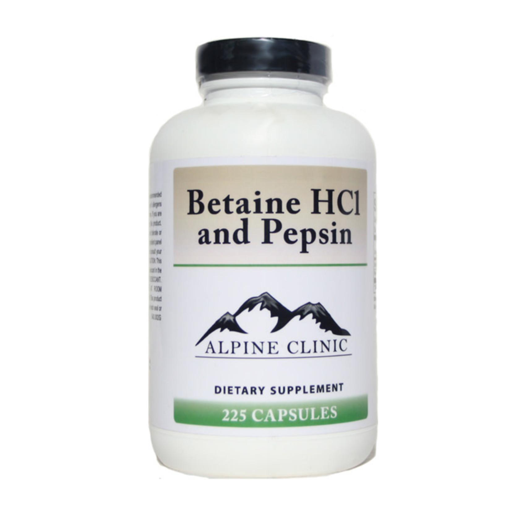 Alpine Clinic Private Label Betaine HCI & Pepsin