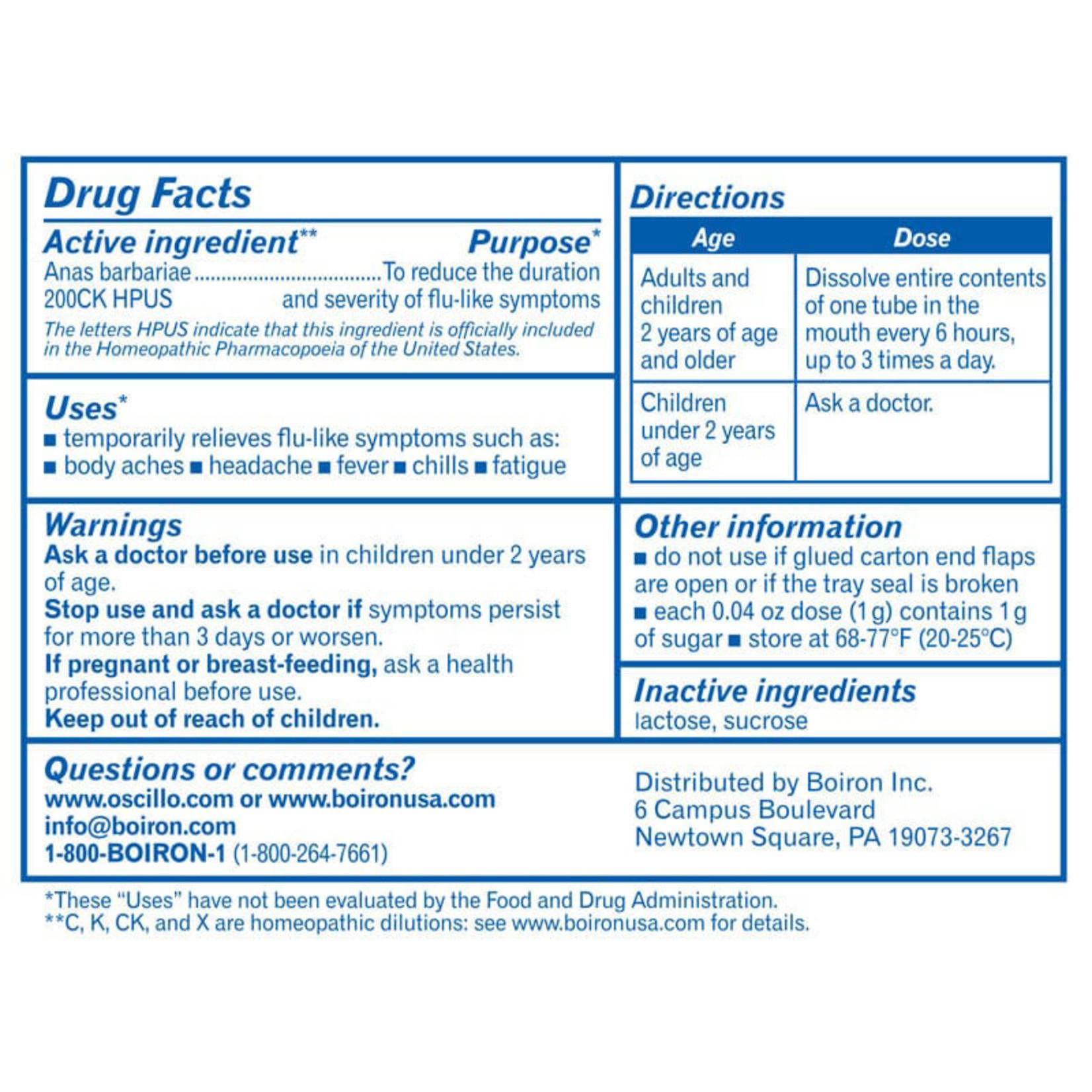 Oscillococcinum - 6 dose