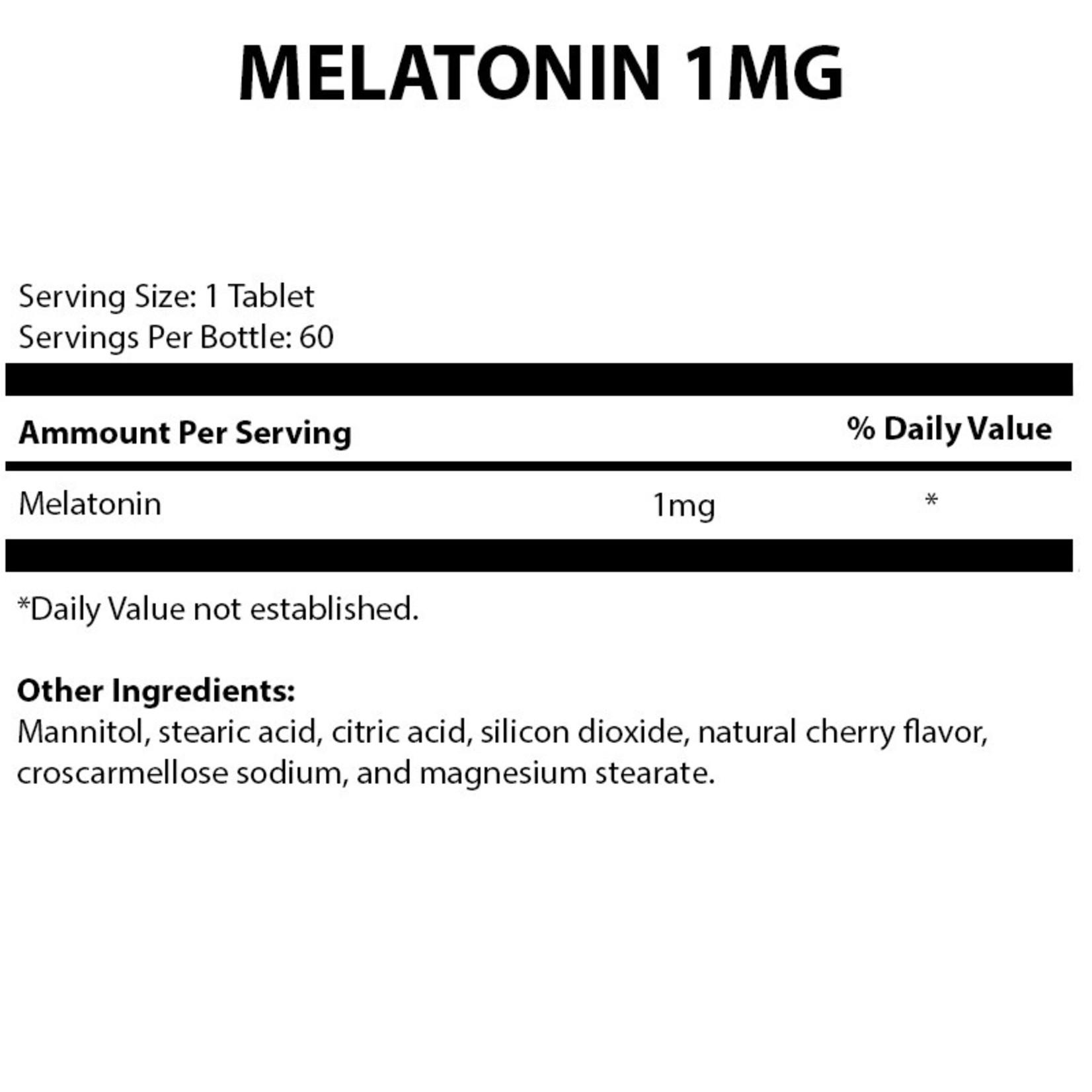 Alpine Clinic Private Label Melatonin - 1mg - Cherry
