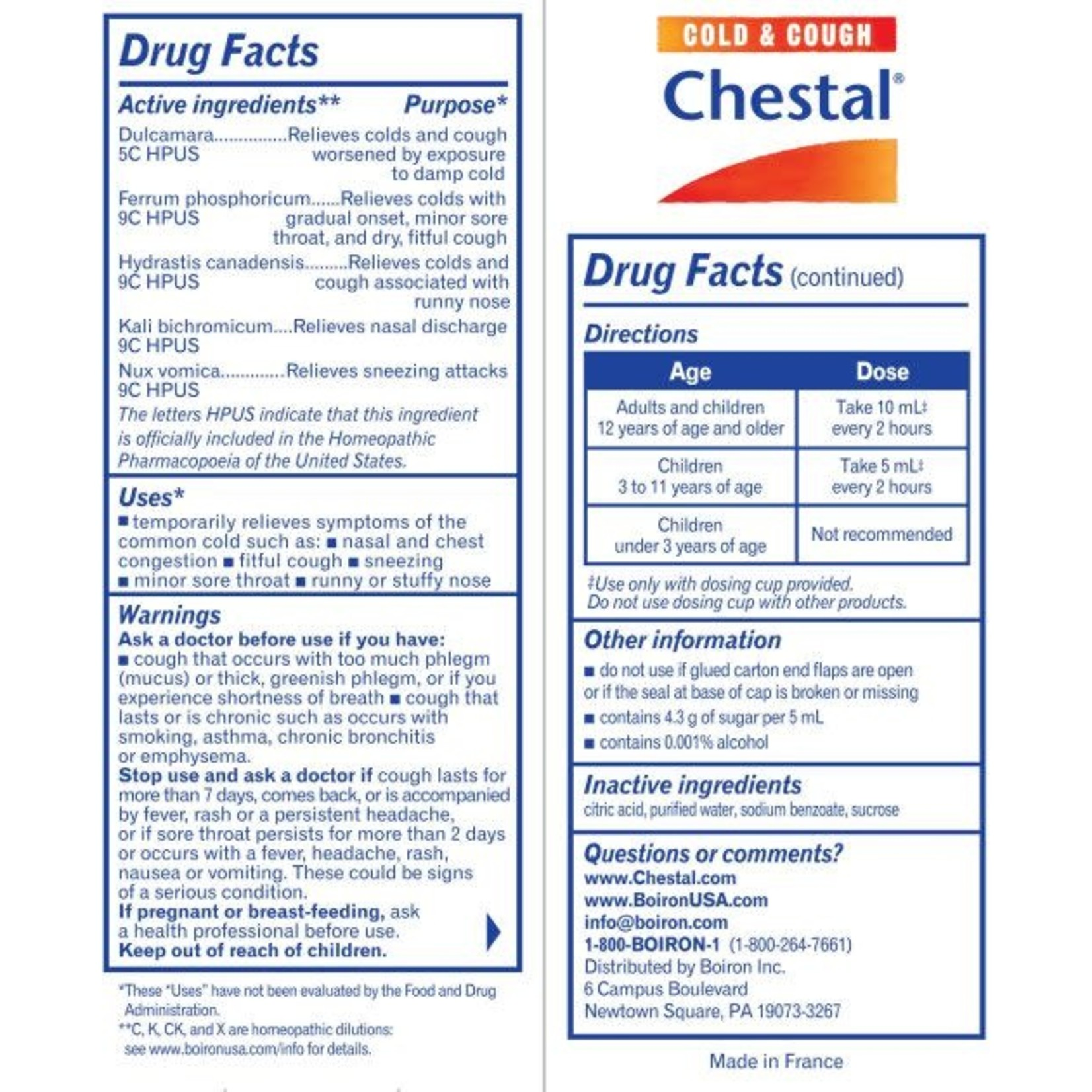 Chestal - Cold and Cough