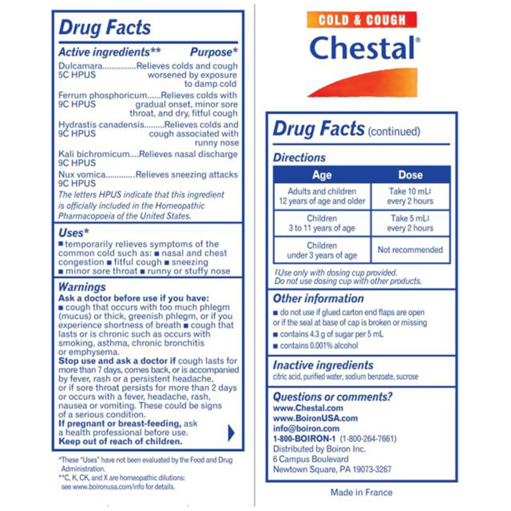 Chestal - Cough and Congestion
