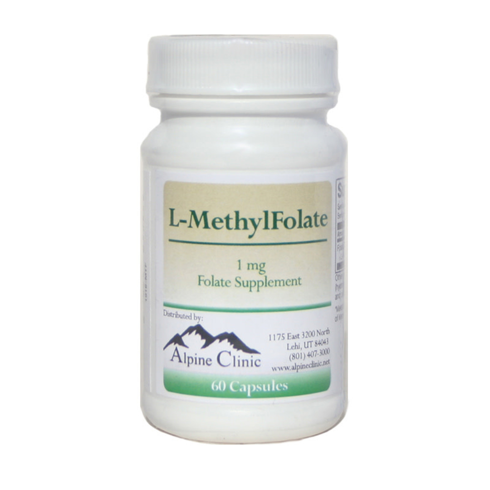Alpine Clinic Private Label L-MethylFolate - 60 Caps - 1 mg