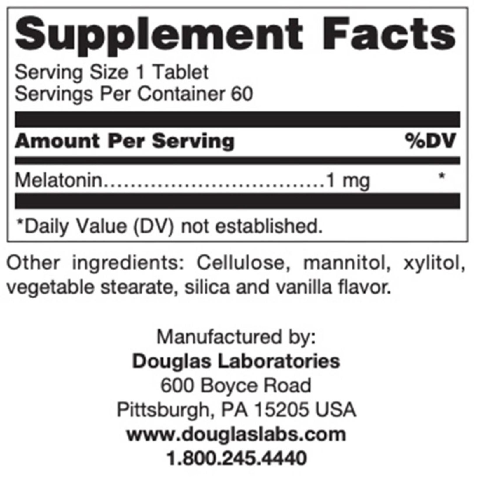 Douglas Labs Melatonin 1mg - Vanilla