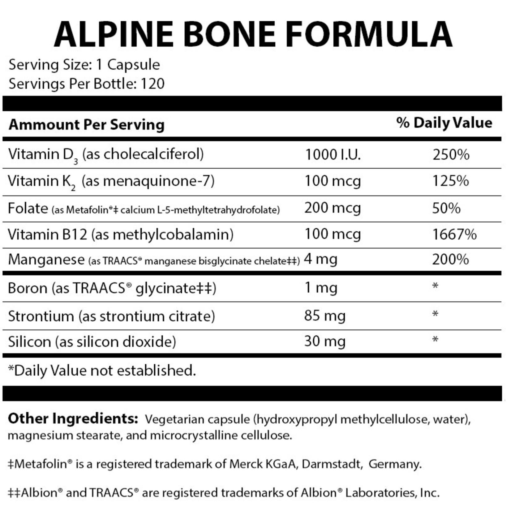 Alpine Clinic Private Label Alpine Bone Formula
