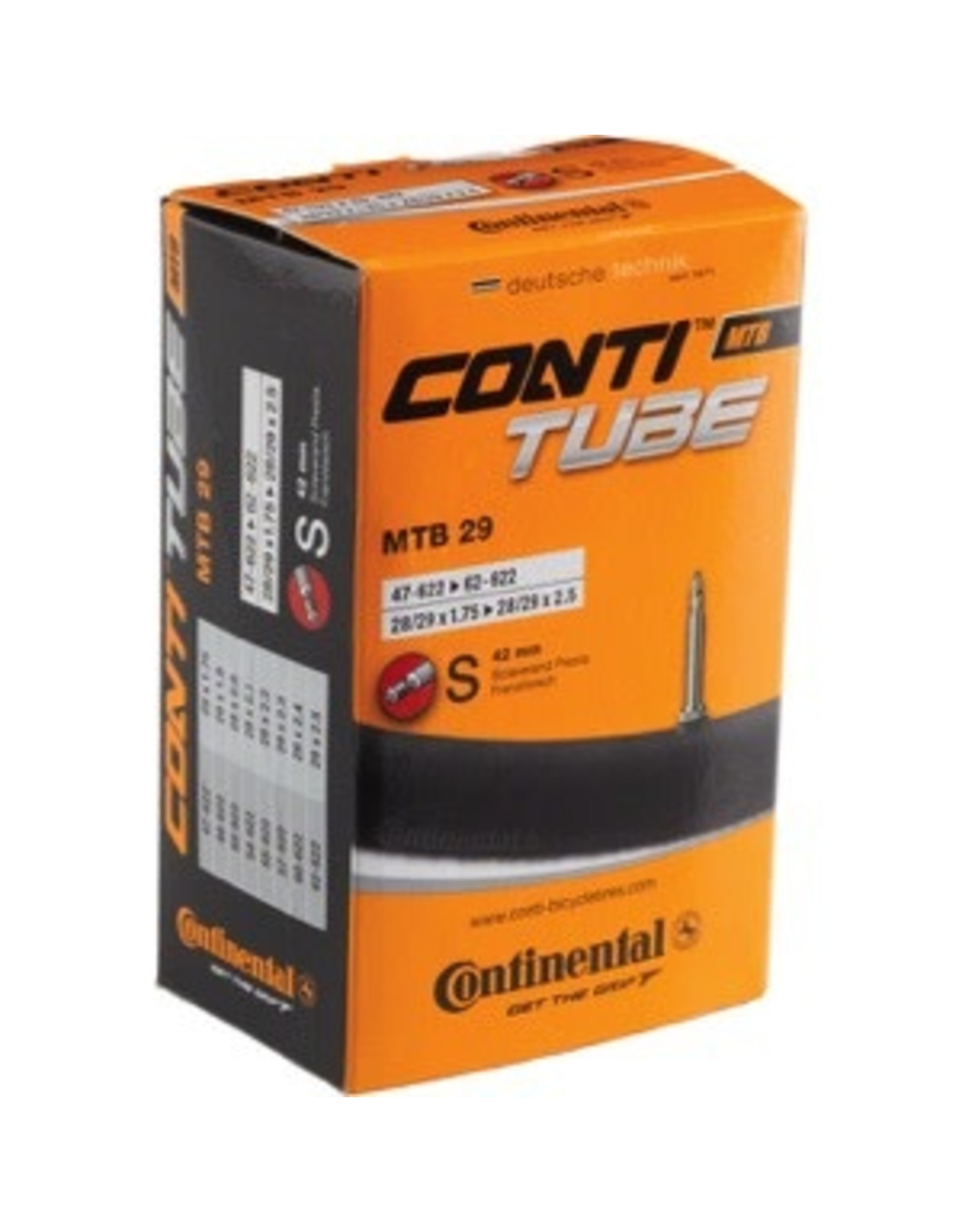 """Continental Continental Tube 29 x 1.75-2.5""""  PV 42mm"""