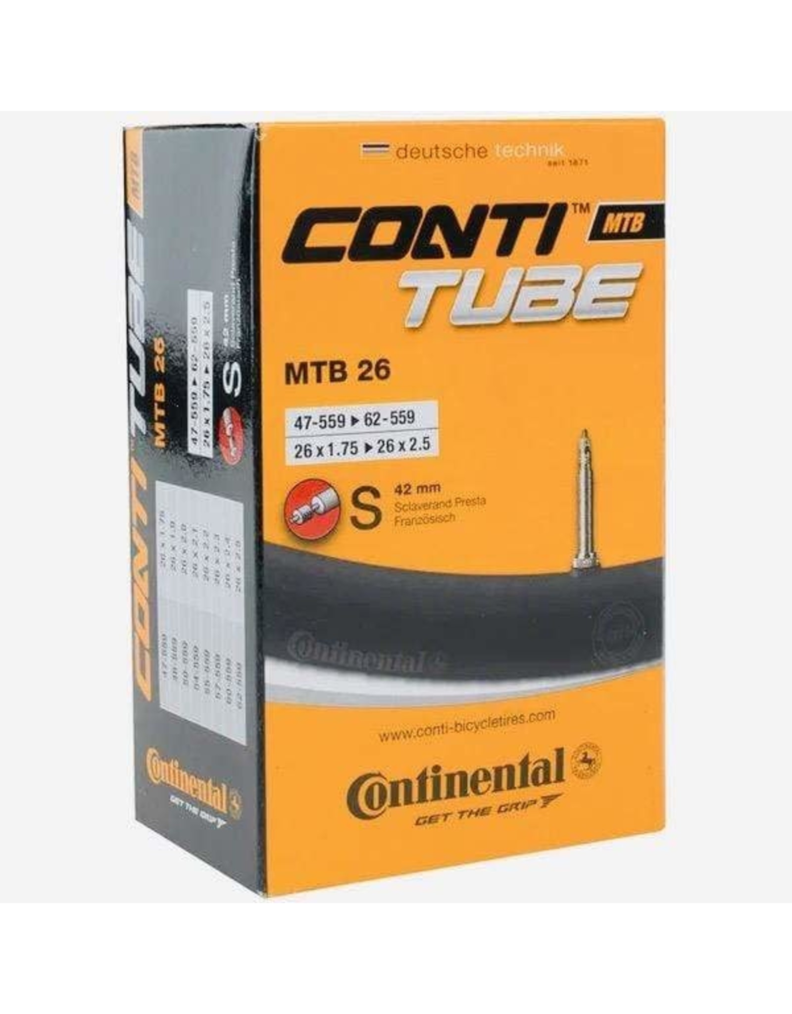 "Continental Continental Tube 26 x 1.75-2.5"" Presta, 42mm valve"