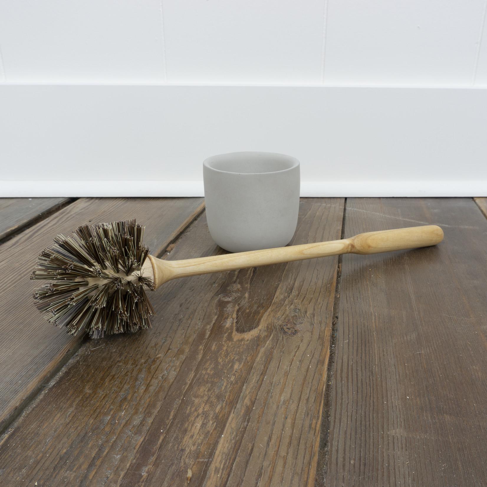 Birch Toilet Brush with Concrete Holder