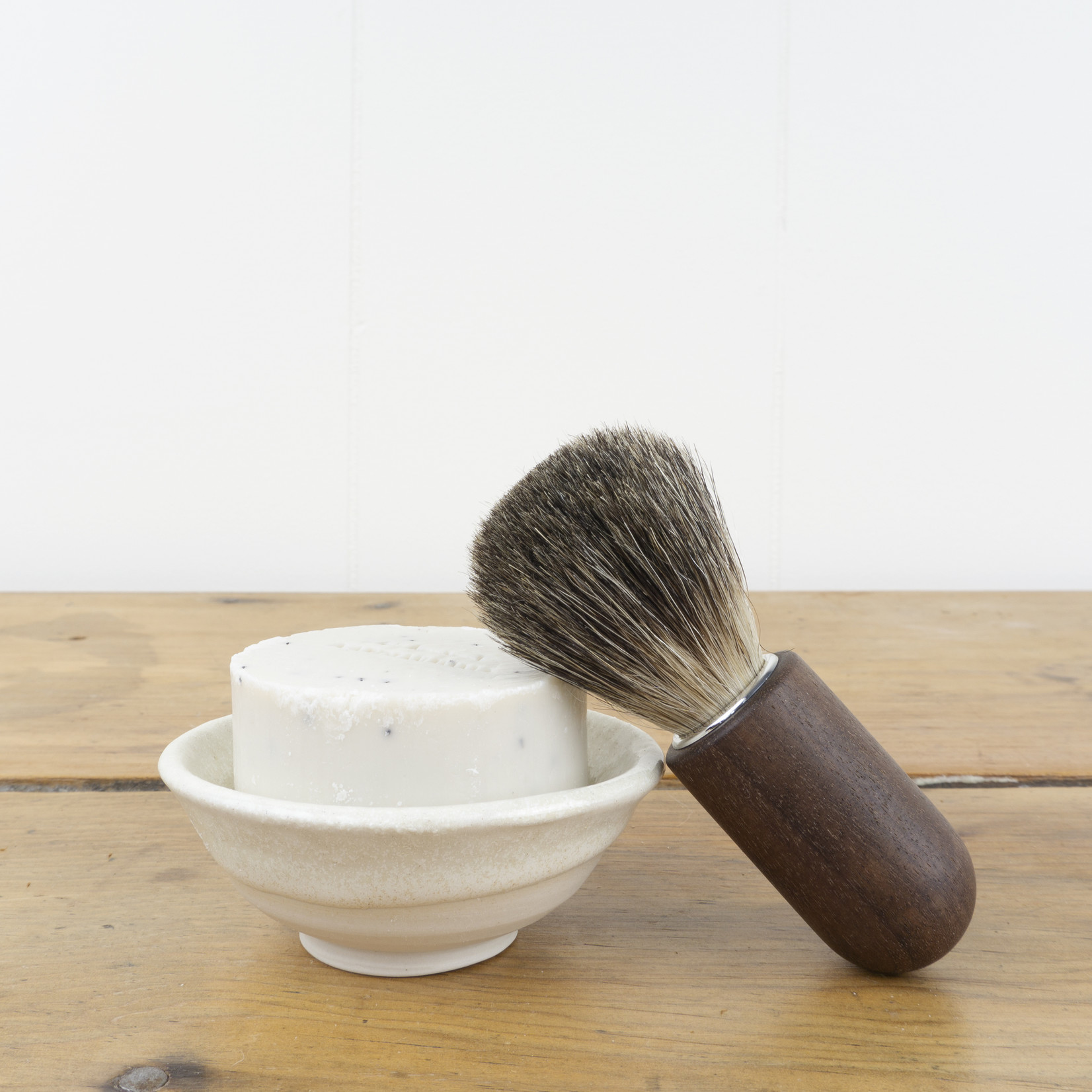 Walnut Handled Shaving Brush