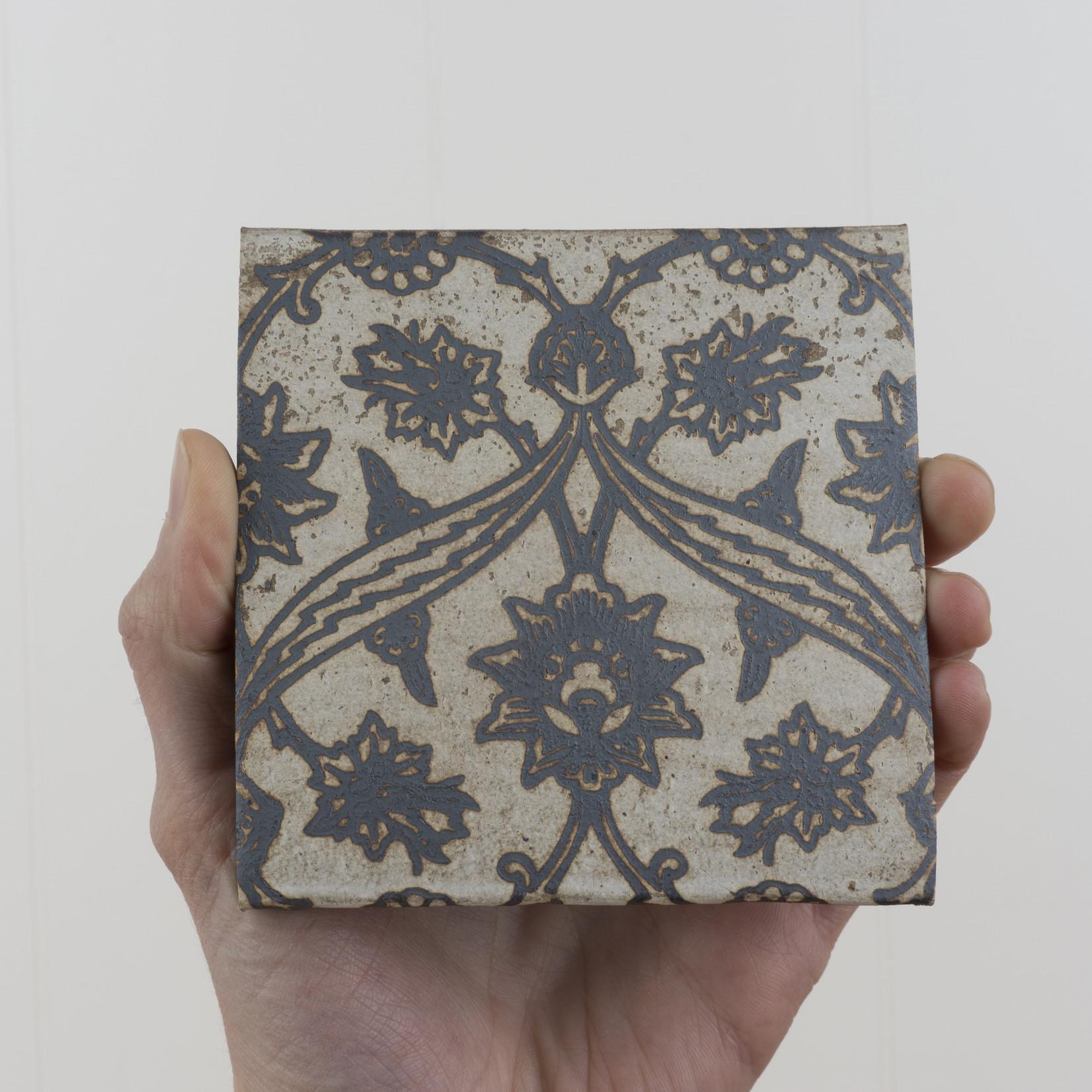 Handprinted Ceramic Coaster
