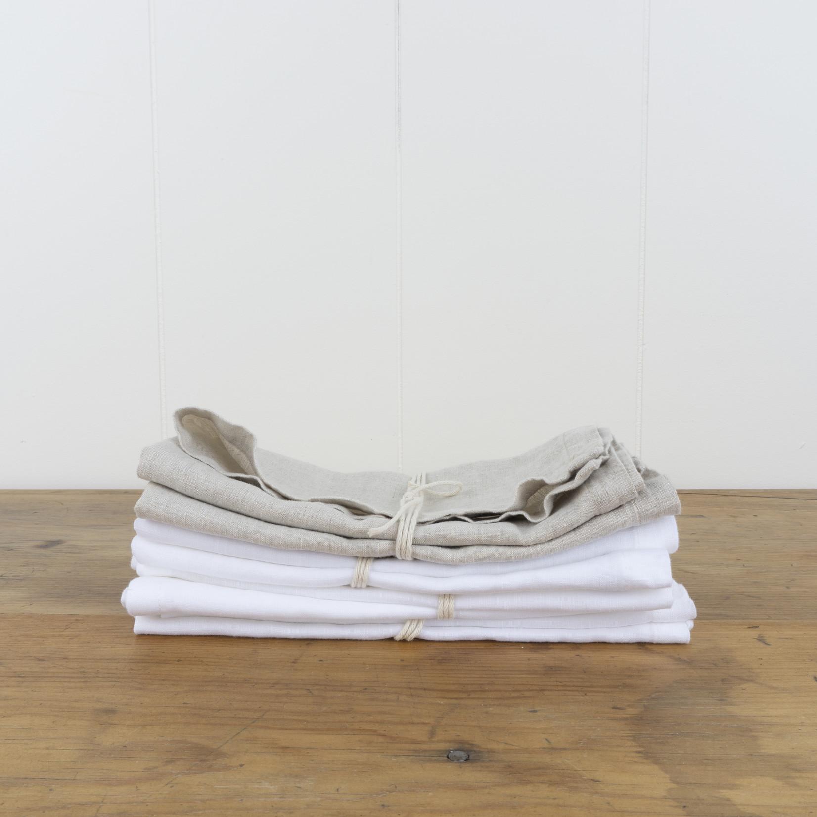 Linen Napkins - White - set of 2
