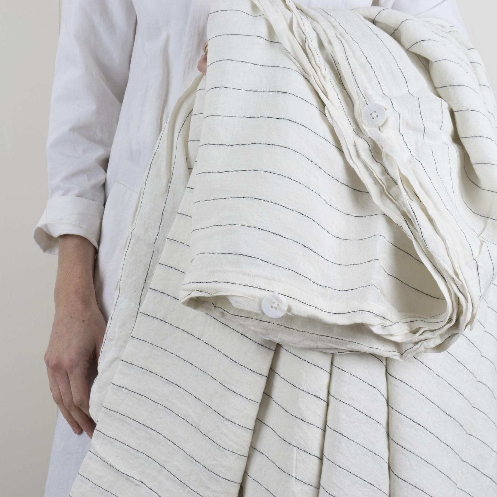 Linen Duvet Cover - Queen - Pencil Stripe