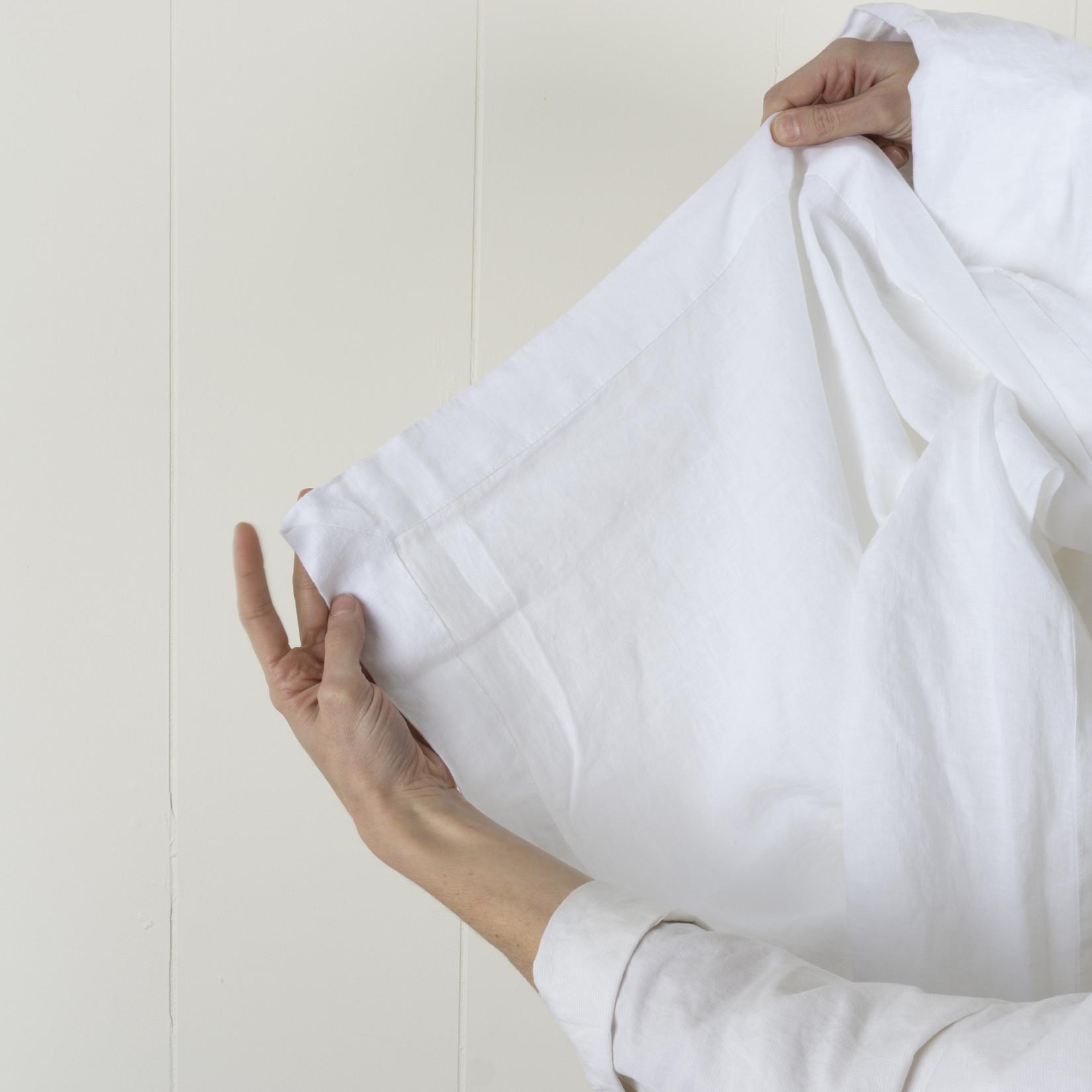 Linen Flat Sheet- white