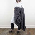 Linen Fitted Sheet- King- slate