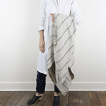 Large Linen Bed Throw