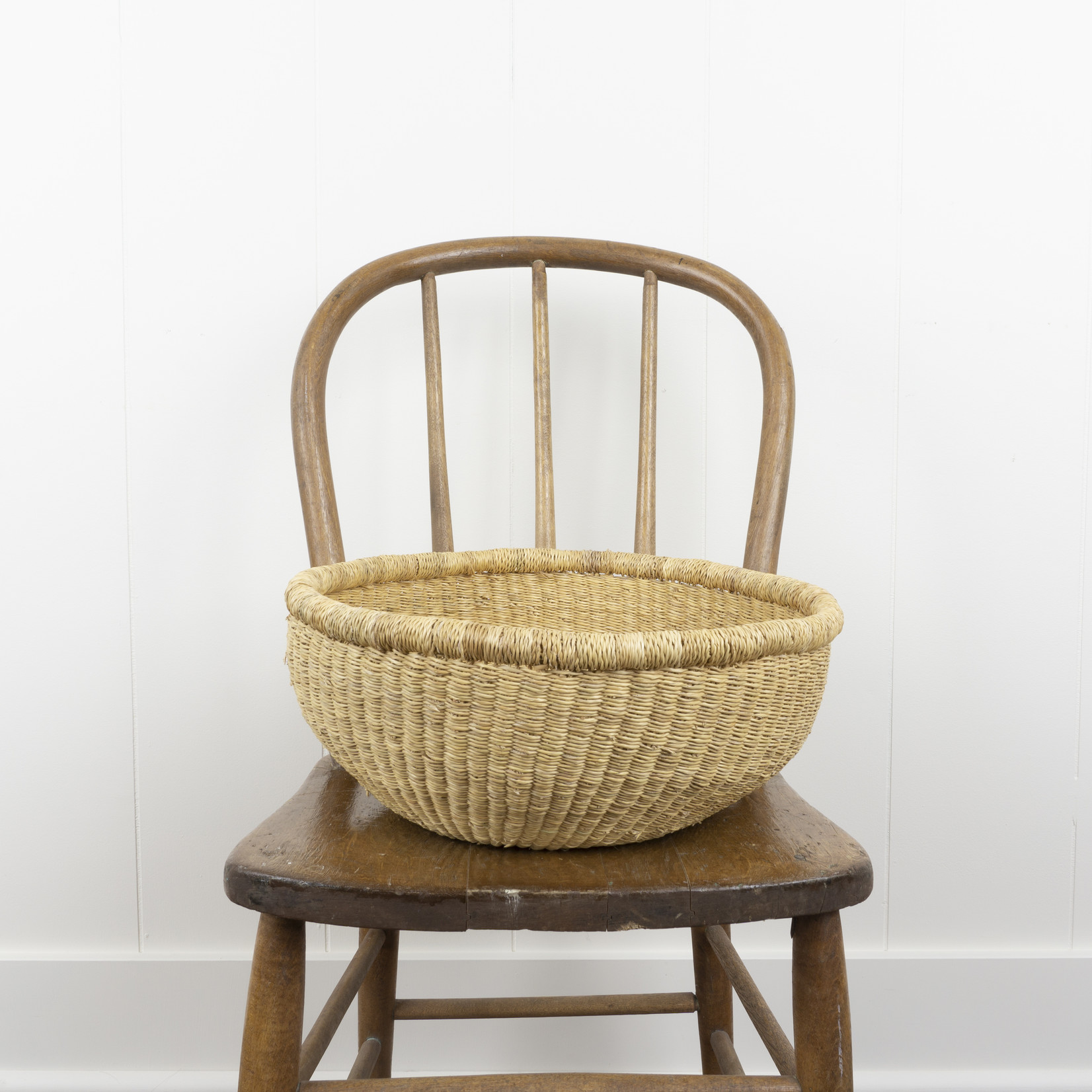 Woven Grass Handless Basket- medium