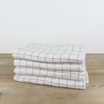 Botanically-dyed Windowpane Large Bath Towel