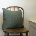 Patchwork Pillow Cover- dark green solid