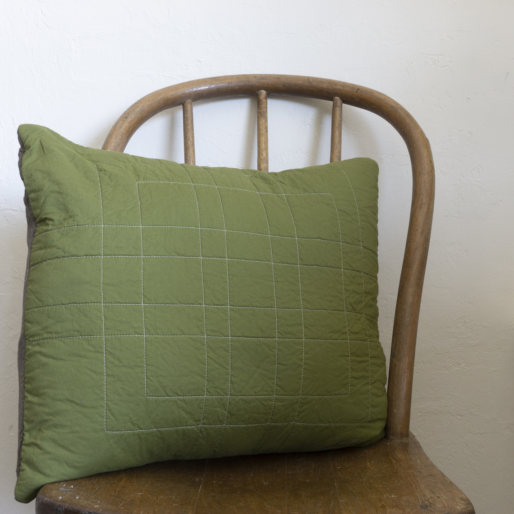 Patchwork Pillow Cover- medium green solid