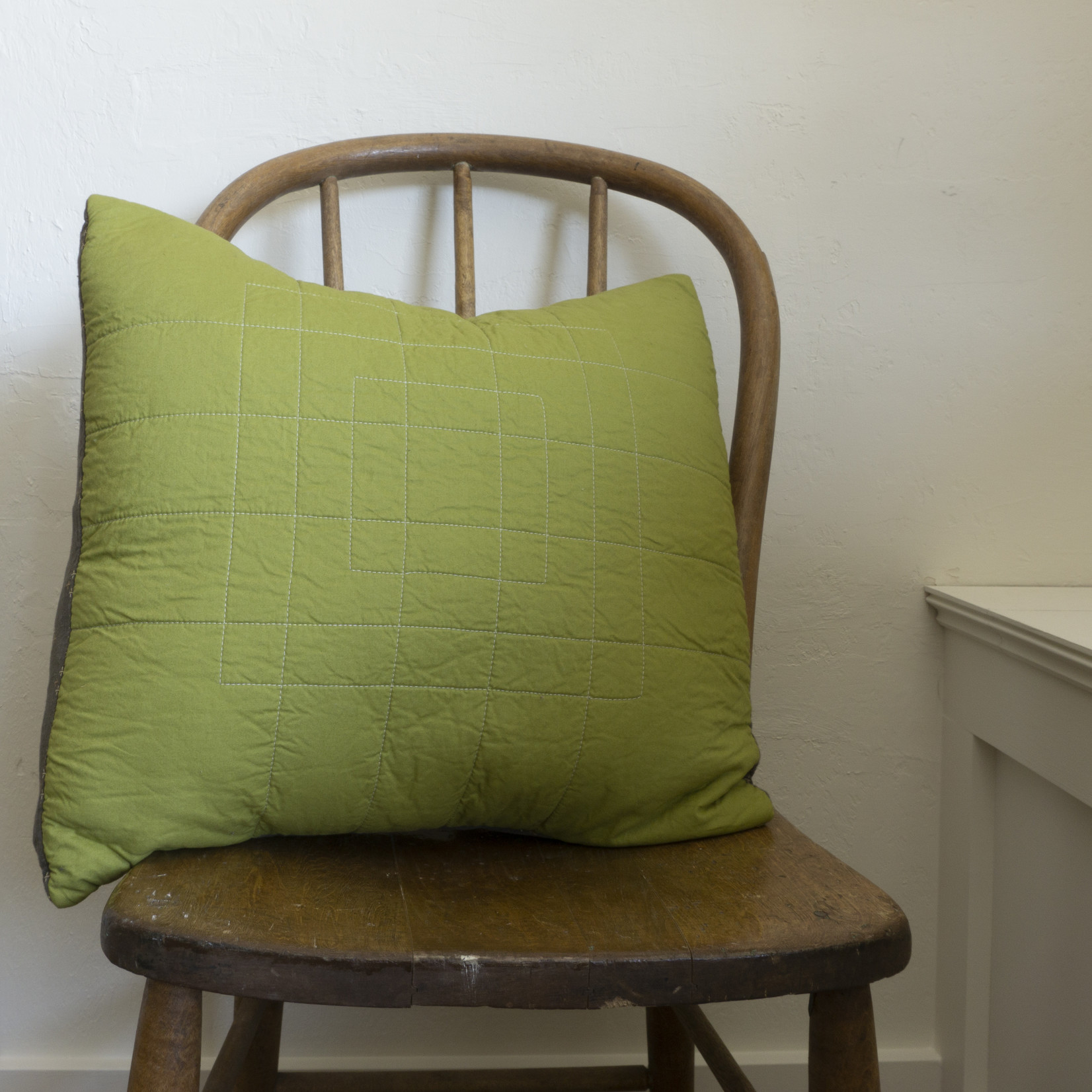 Patchwork Pillow Cover- light green solid