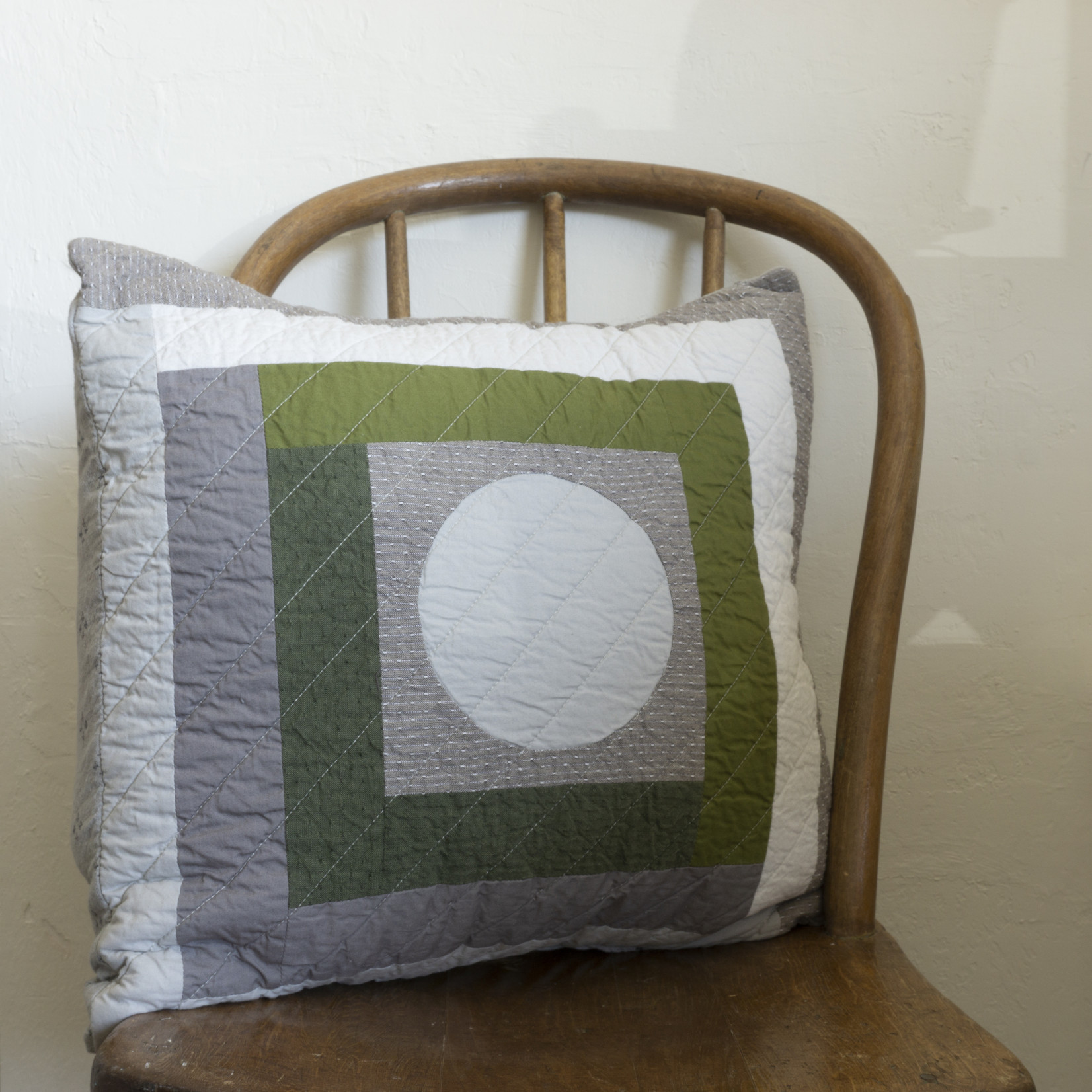 Patchwork Pillow Cover- circle version 2