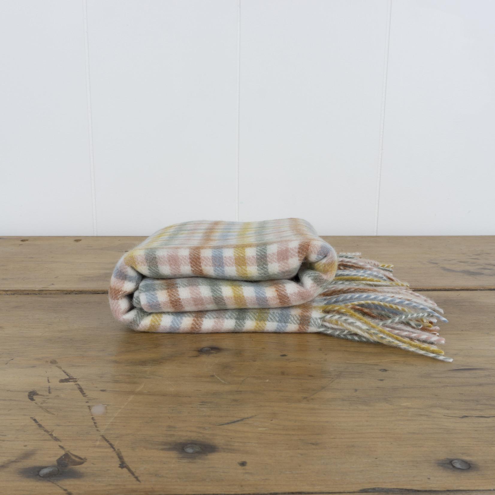 Wool Baby Blanket- rainbow gingham