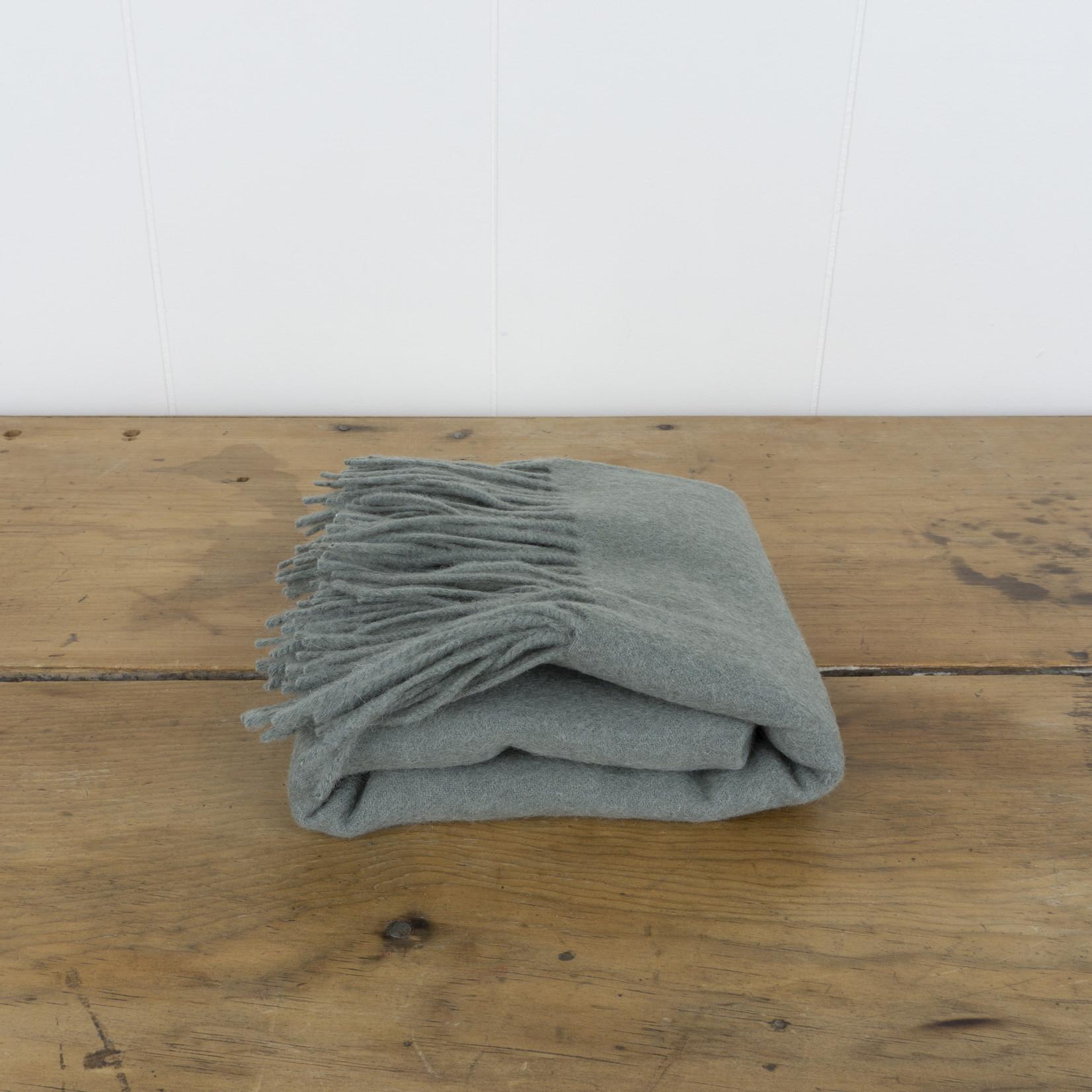 Wool Baby Blanket- sage