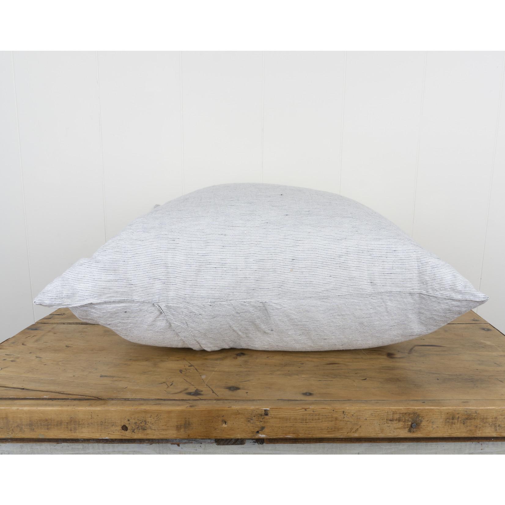 Pinstripe Linen Euro Pillow