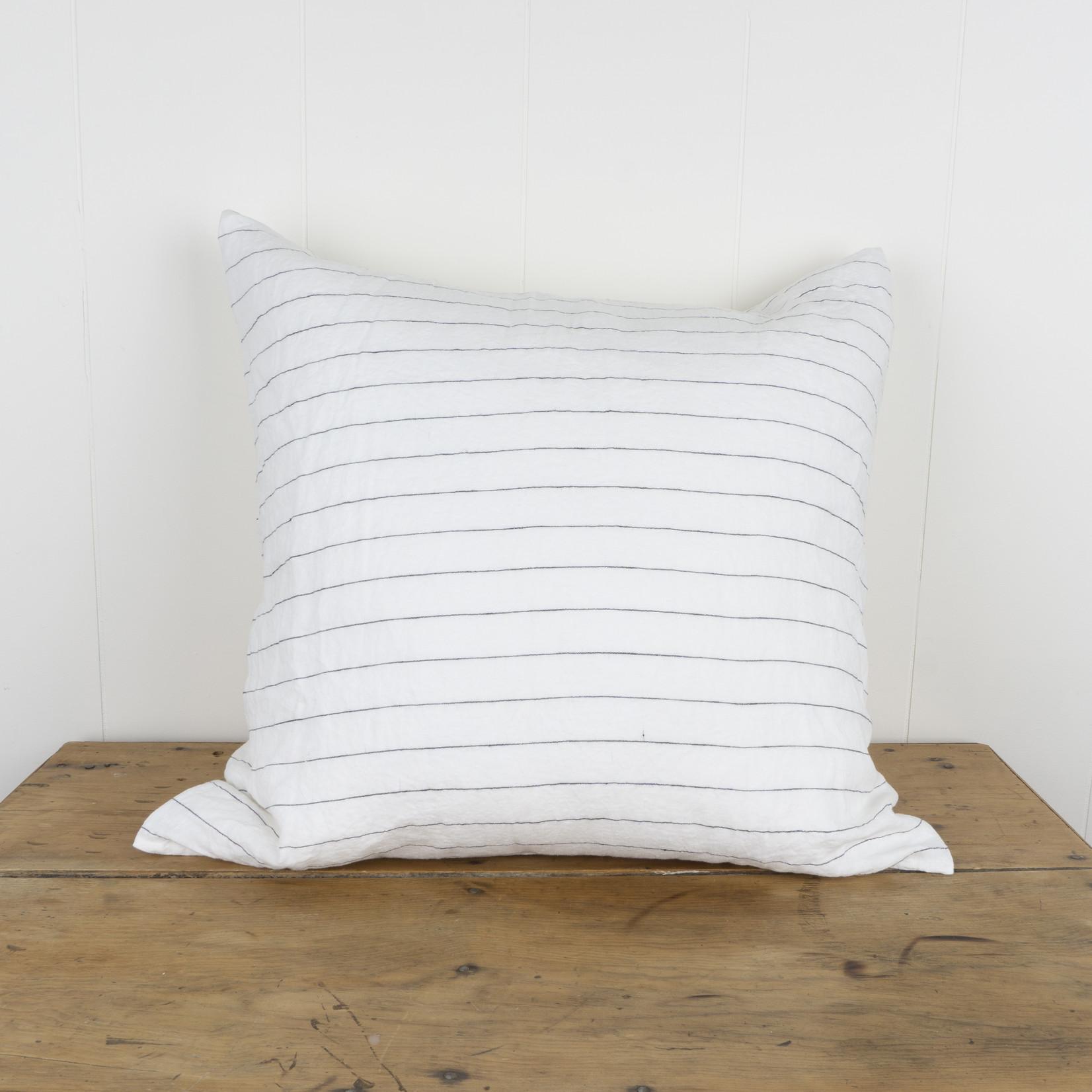 Pencil Stripe Linen Euro Pillow