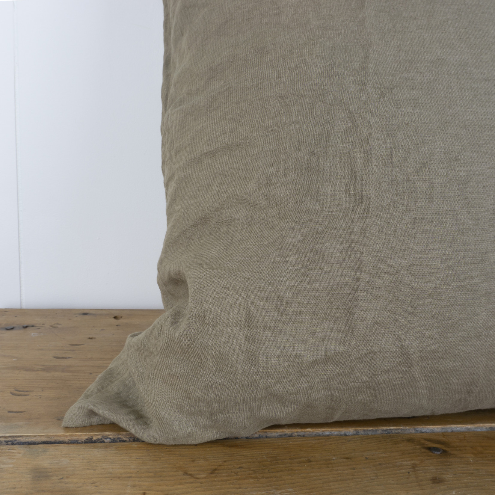 Olive Linen Euro Pillow