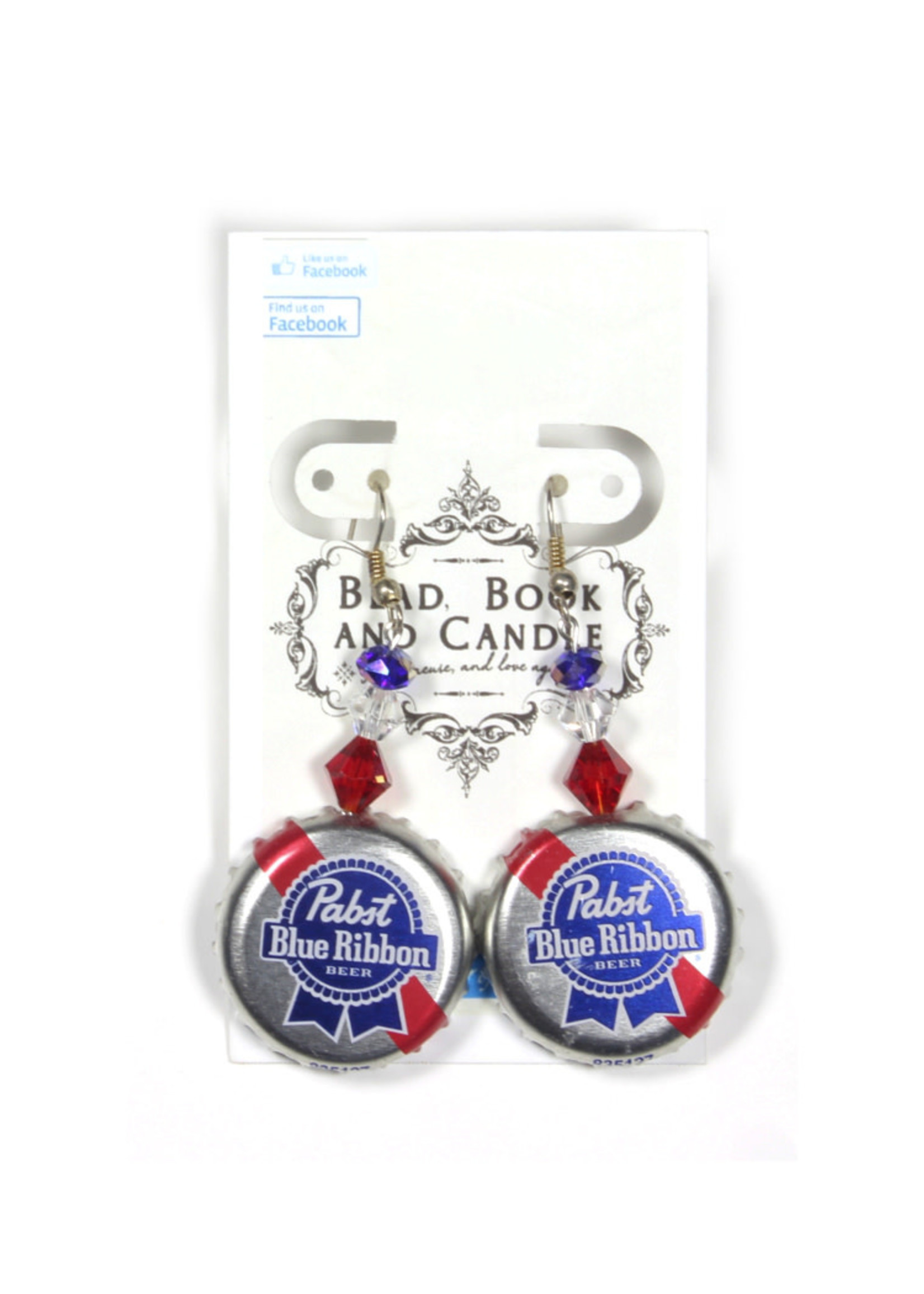 Pabst Pabst Bottle Cap Earrings