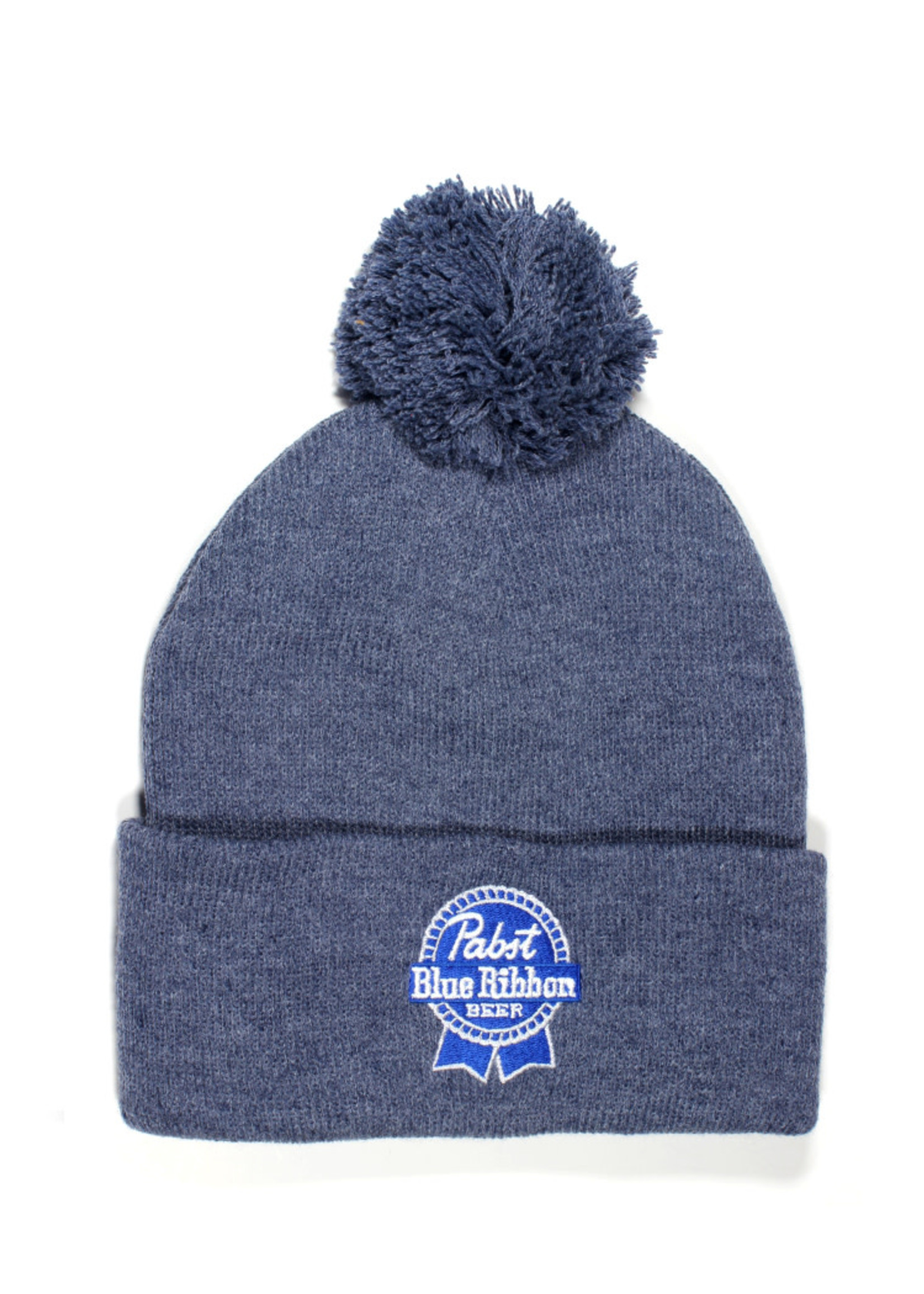 Pabst Pabst Heather Navy Ribbon Beanie With Pom