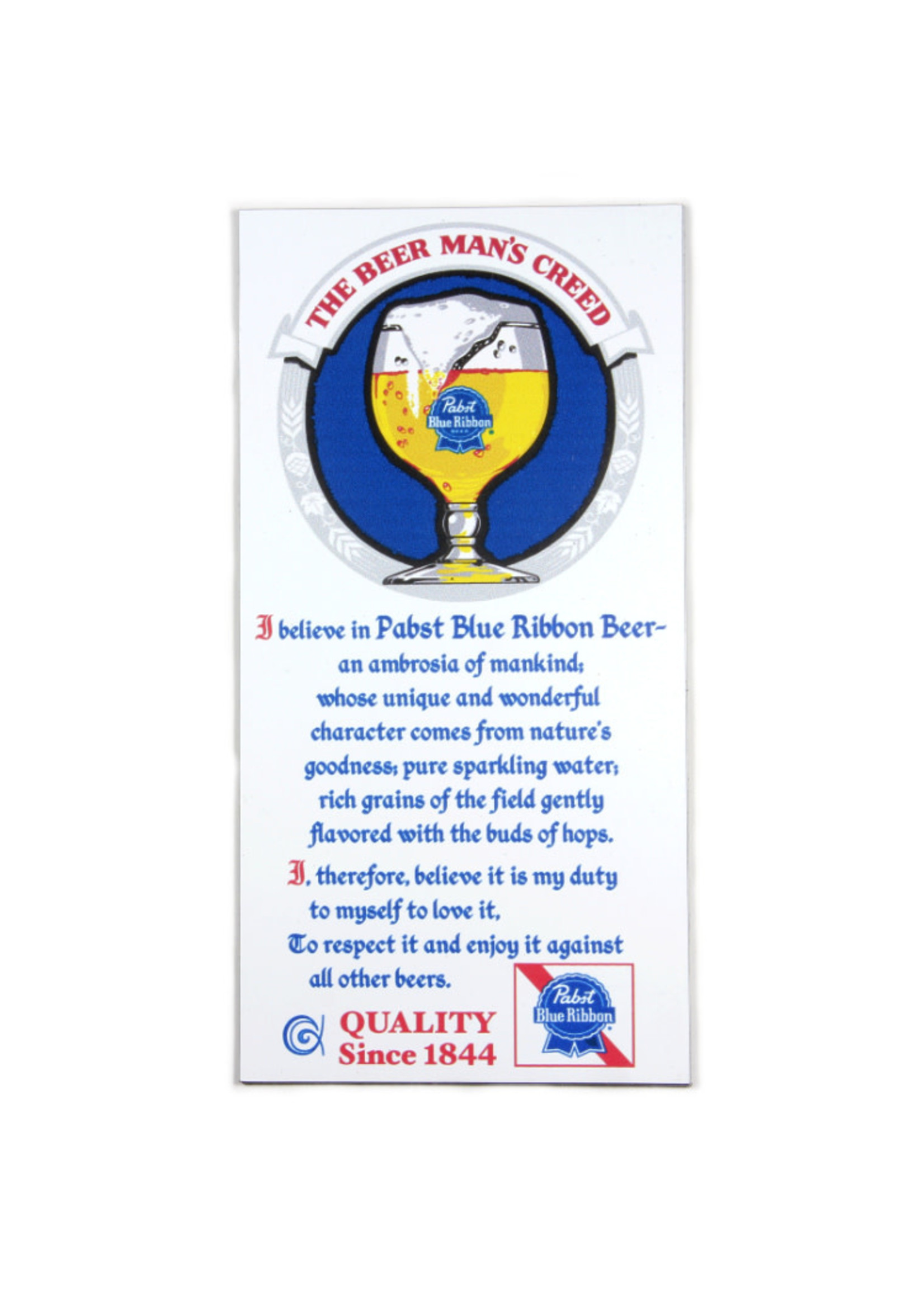Pabst Pabst Beer Man's Creed Magnet