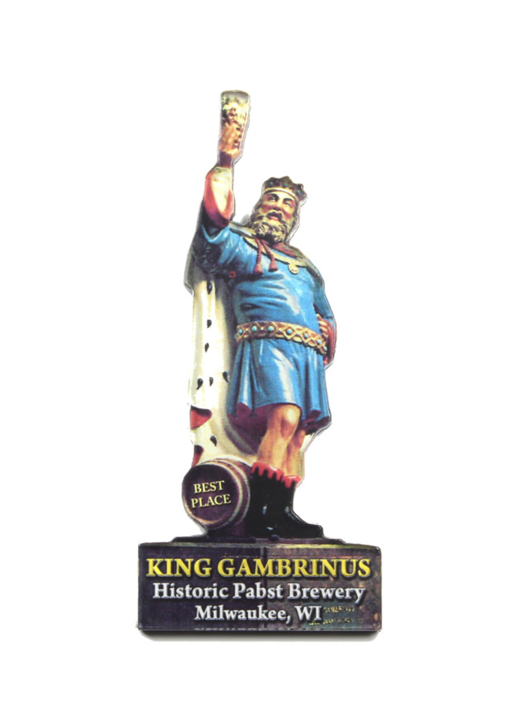 Pabst Pabst Acrylic Magnet King Gambrinus