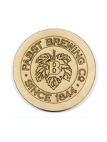 Pabst Pabst Wooden Coaster - Corporate Logo