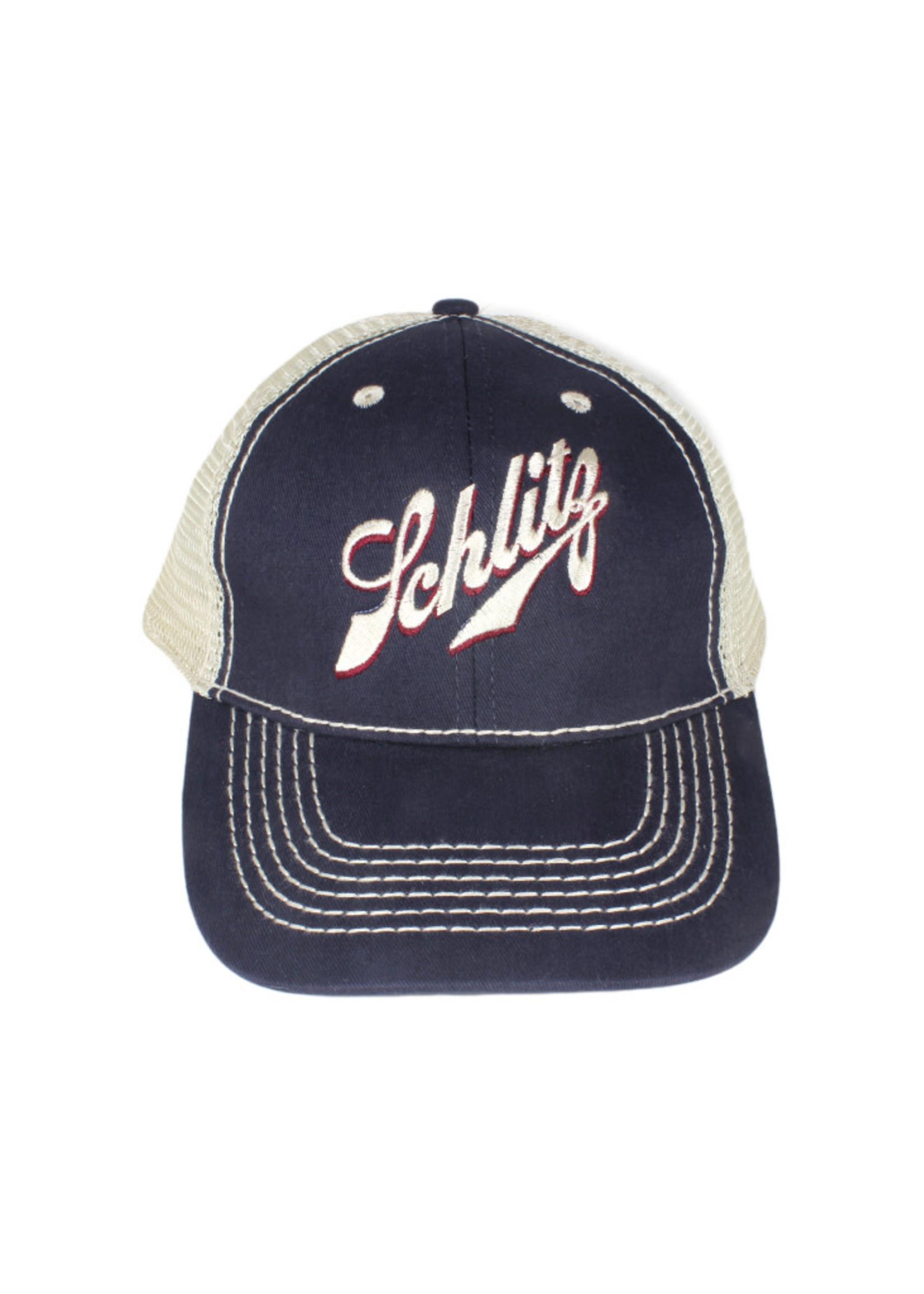 Schlitz Schlitz Navy Mesh Trucker Hat