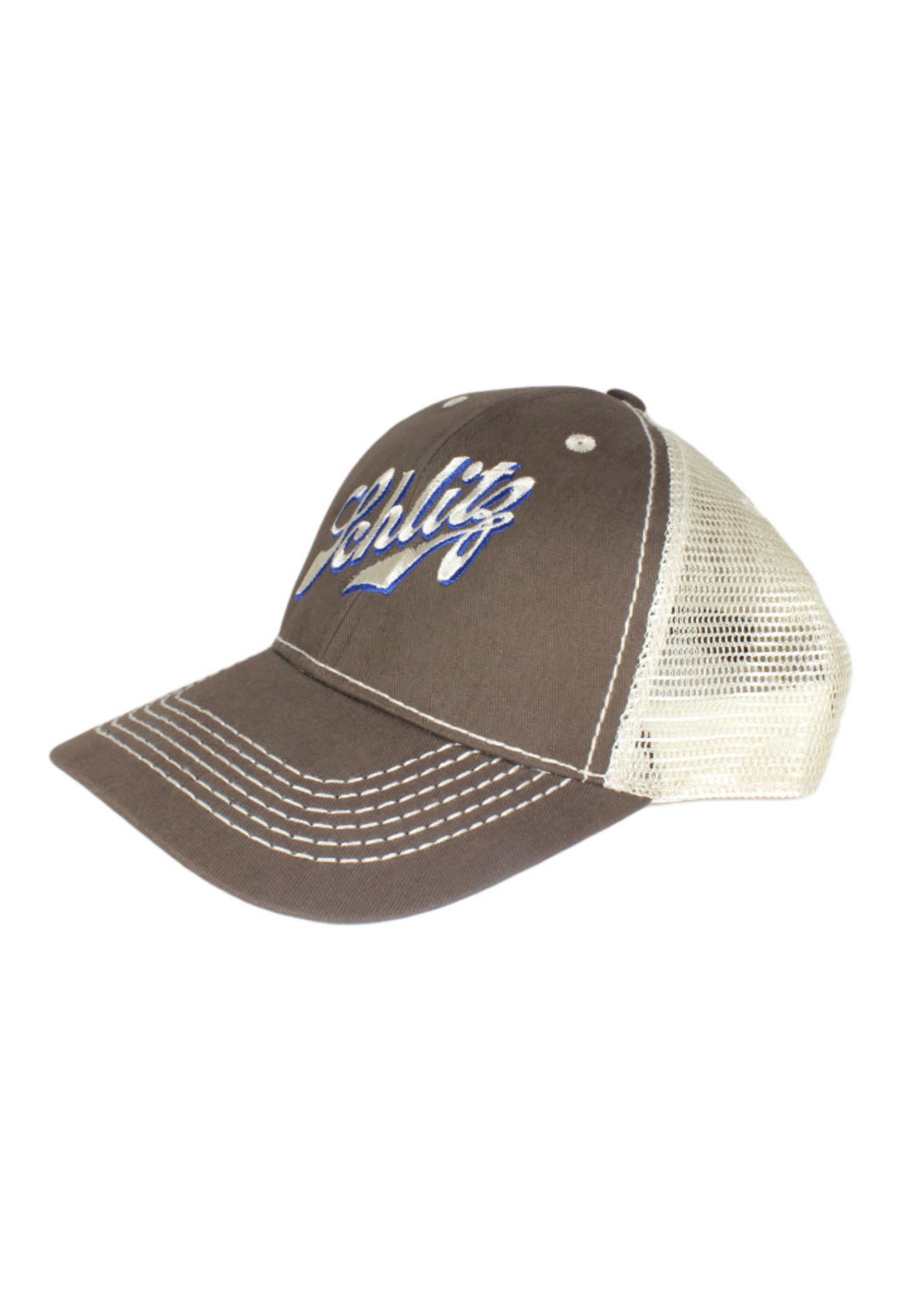 Schlitz Schlitz Brown Mesh Trucker Hat
