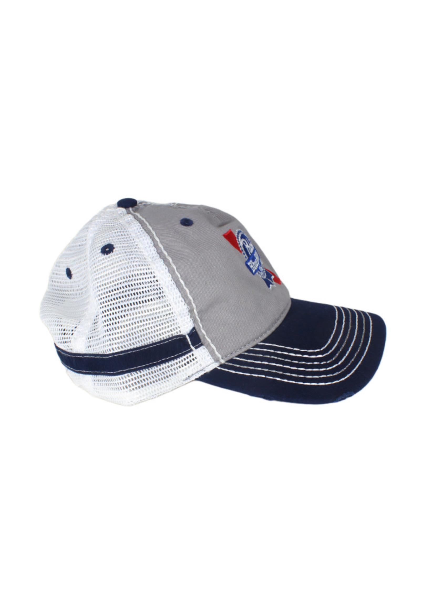 Pabst Pabst Stitch Bill Grey Trucker Hat