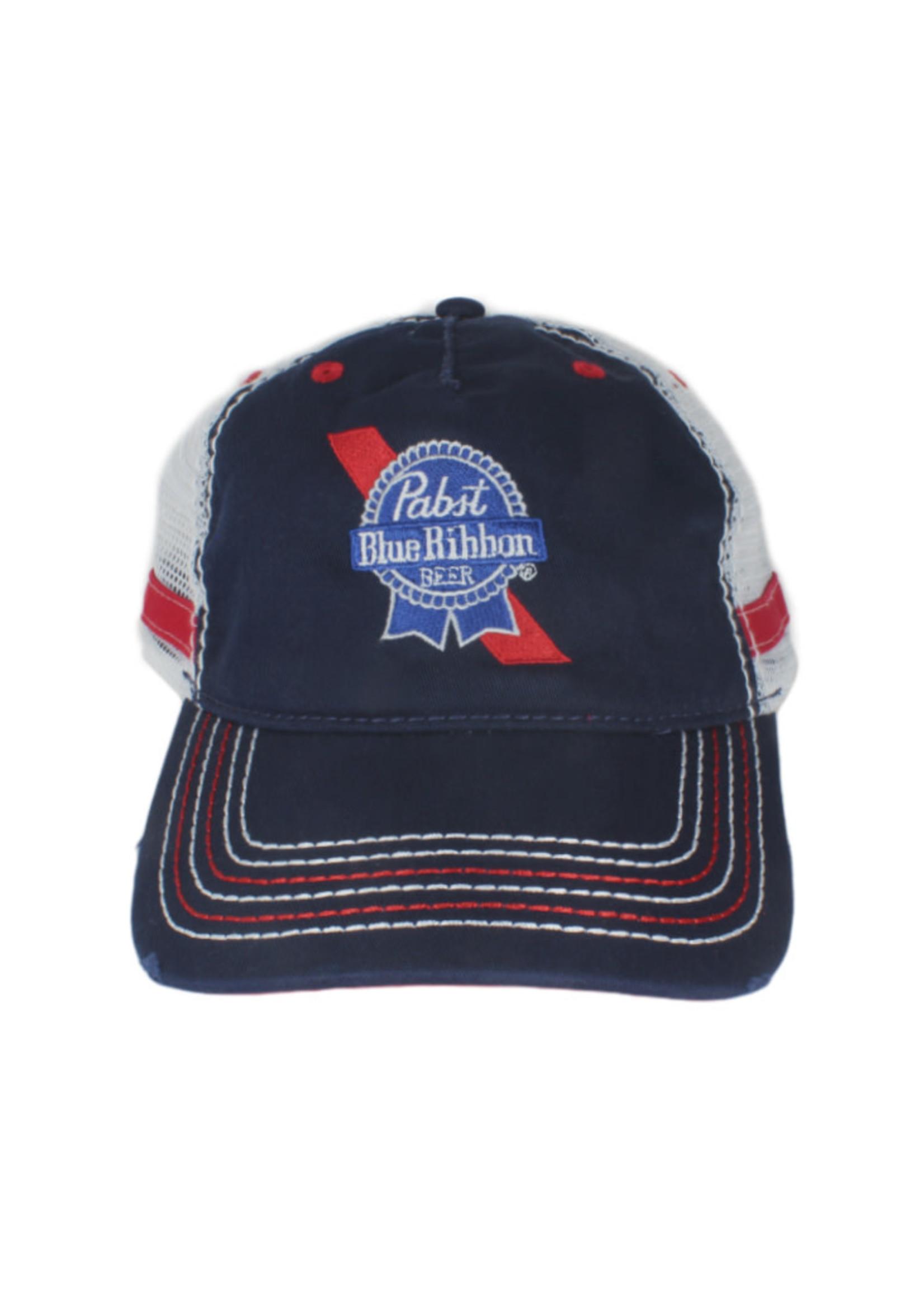 Pabst Pabst Stitch Bill Navy Trucker Hat