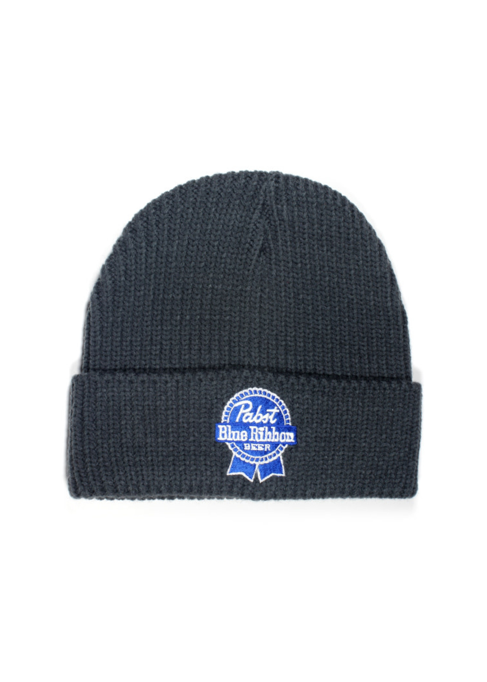 Pabst Pabst Charcoal Cable Knit Beanie with Ribbon