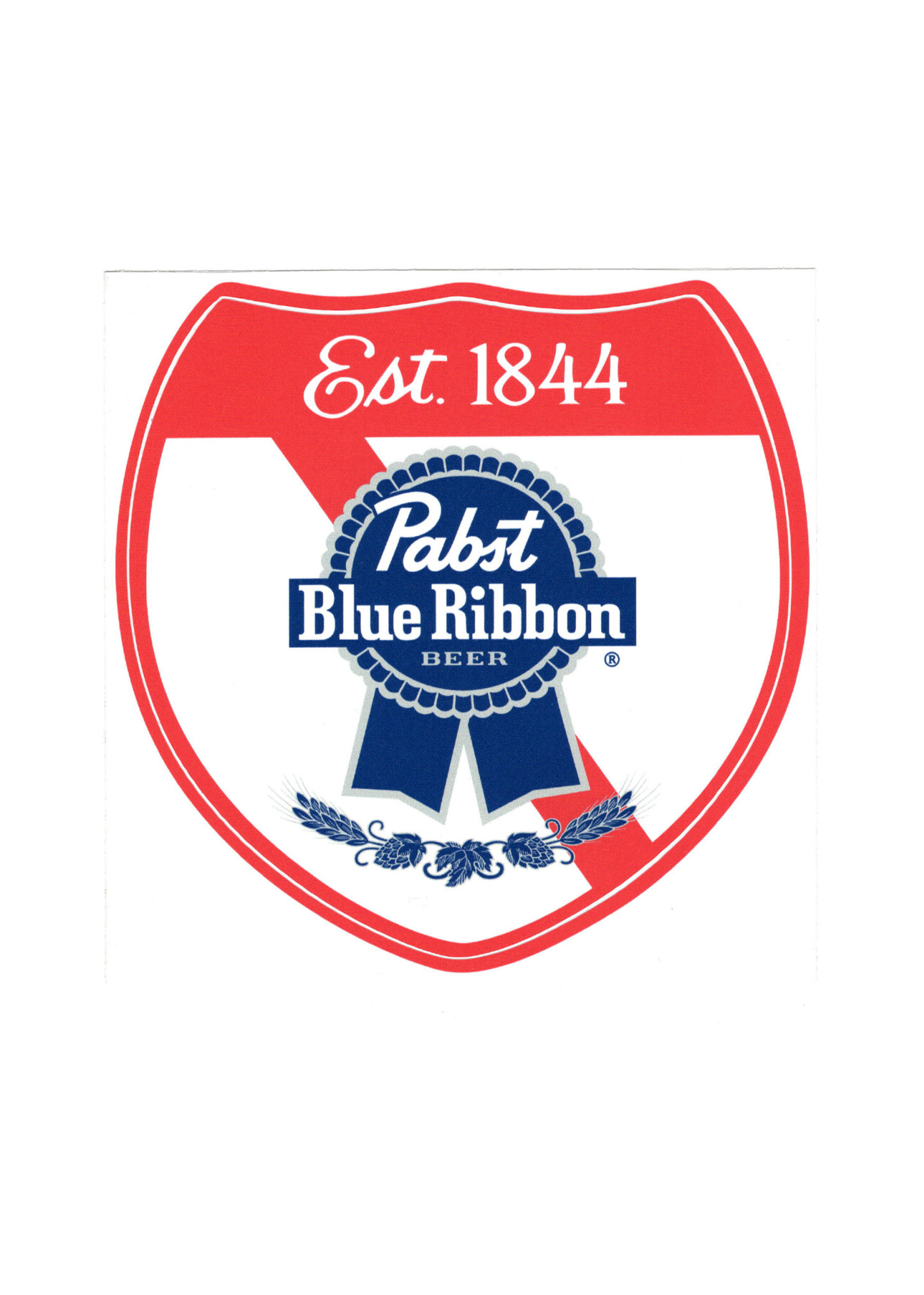 Pabst Pabst Highway Sign Sticker