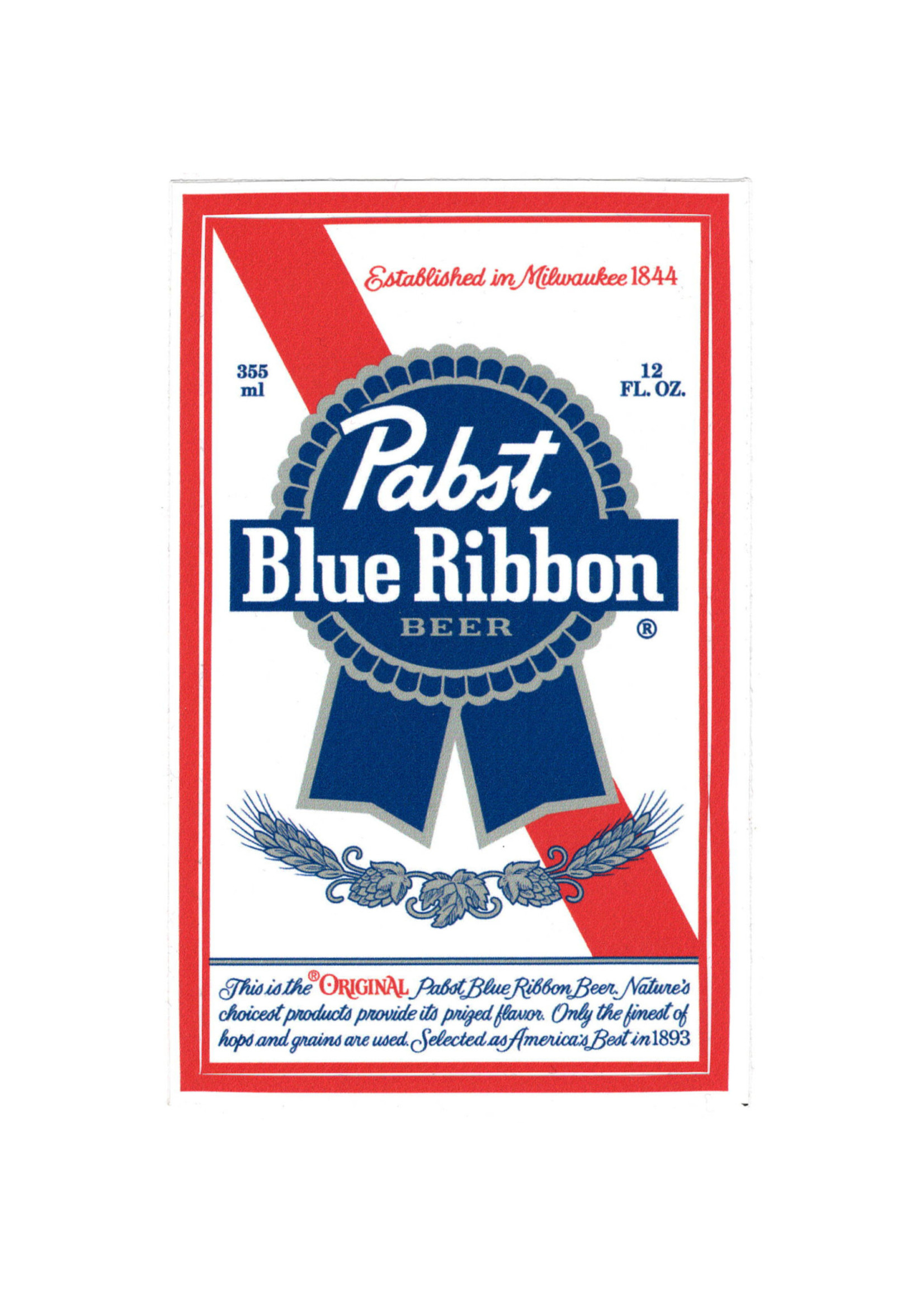 Pabst Pabst Label Sticker