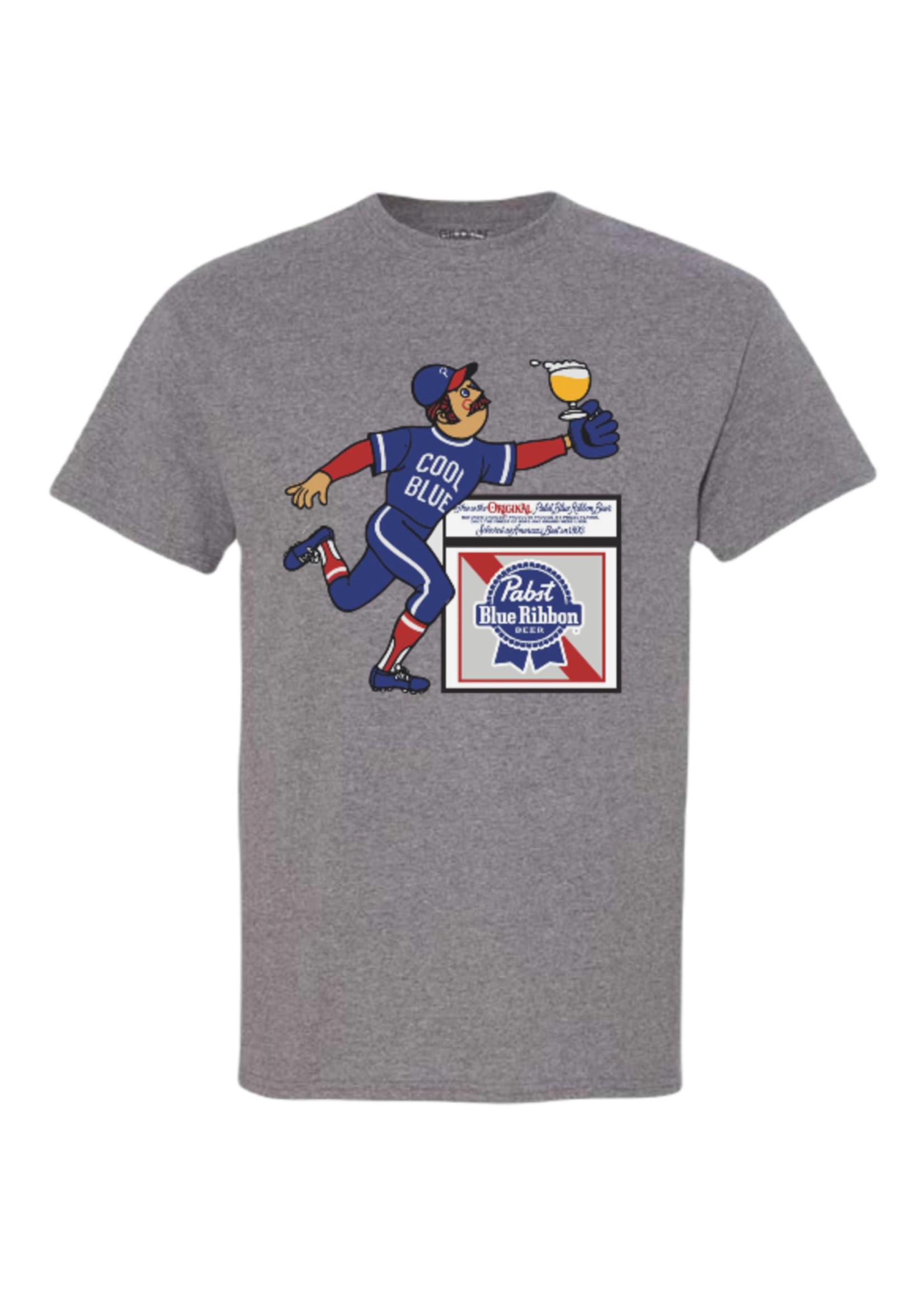 Pabst Pabst Cool Blue Baseball Tee