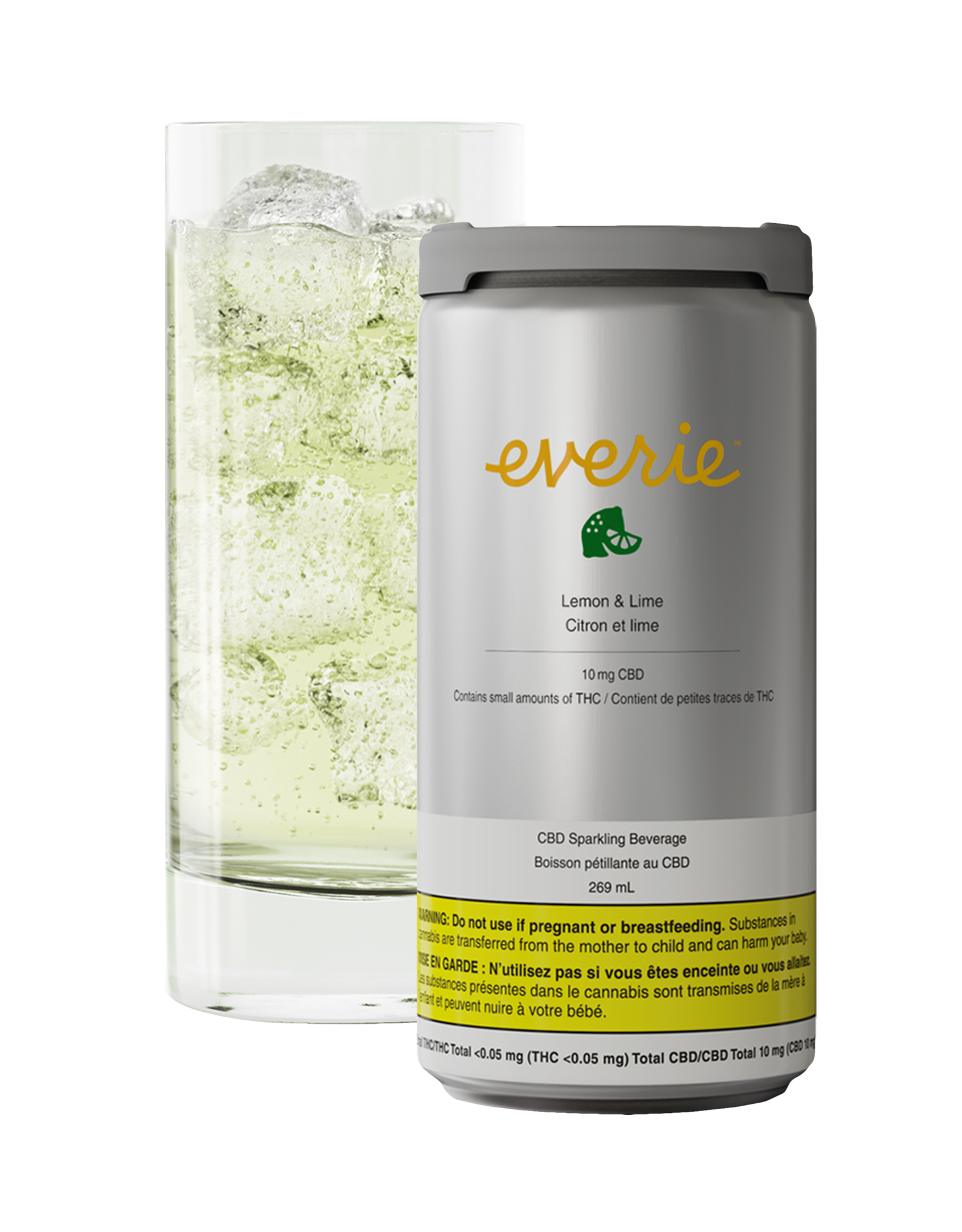 Everie Everie - Lemon & Lime CBD Sparkling Water