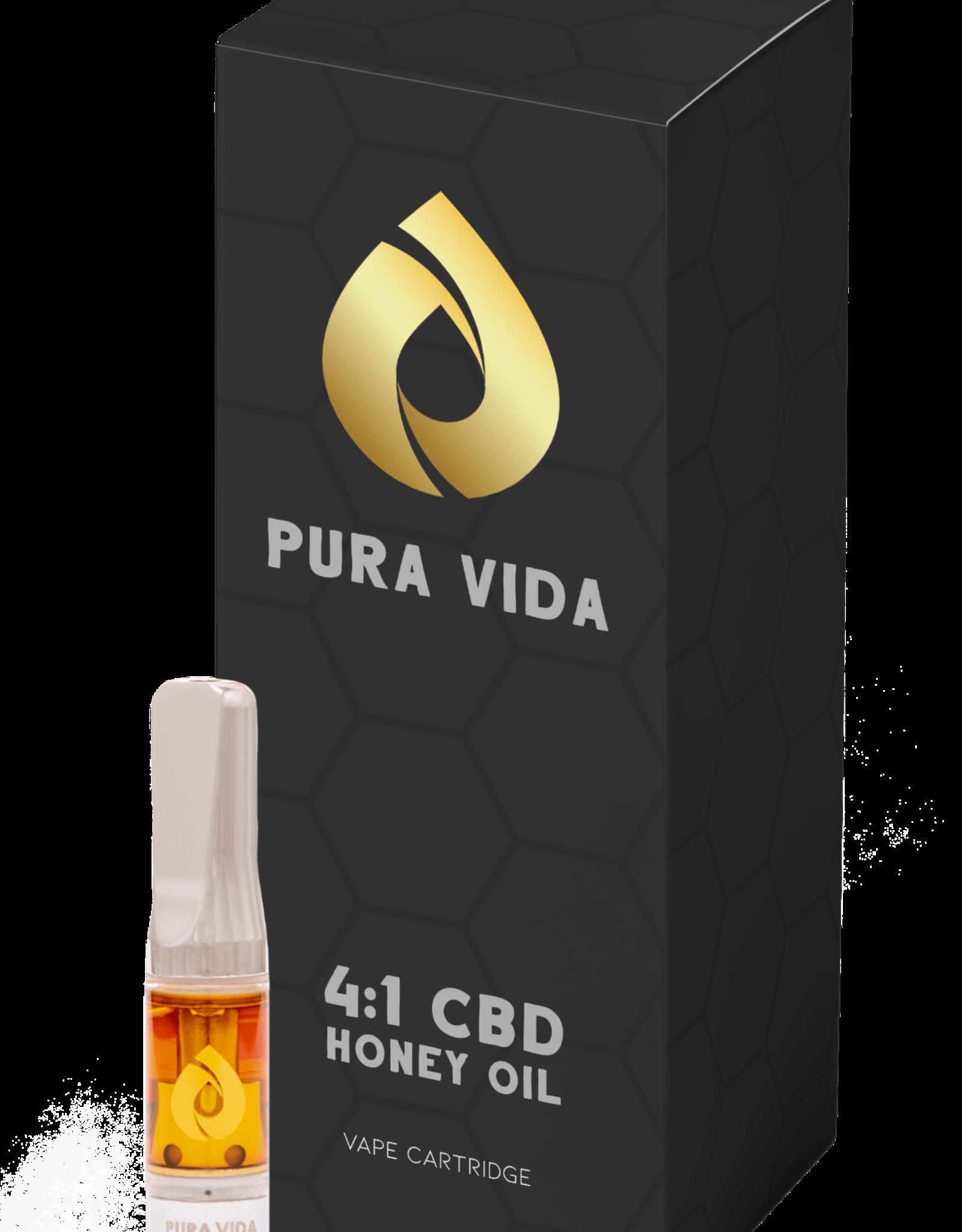 Pura Vida Pura Vida - CBD 4:1 Honey Oil - 0.5g 510 Cartridge