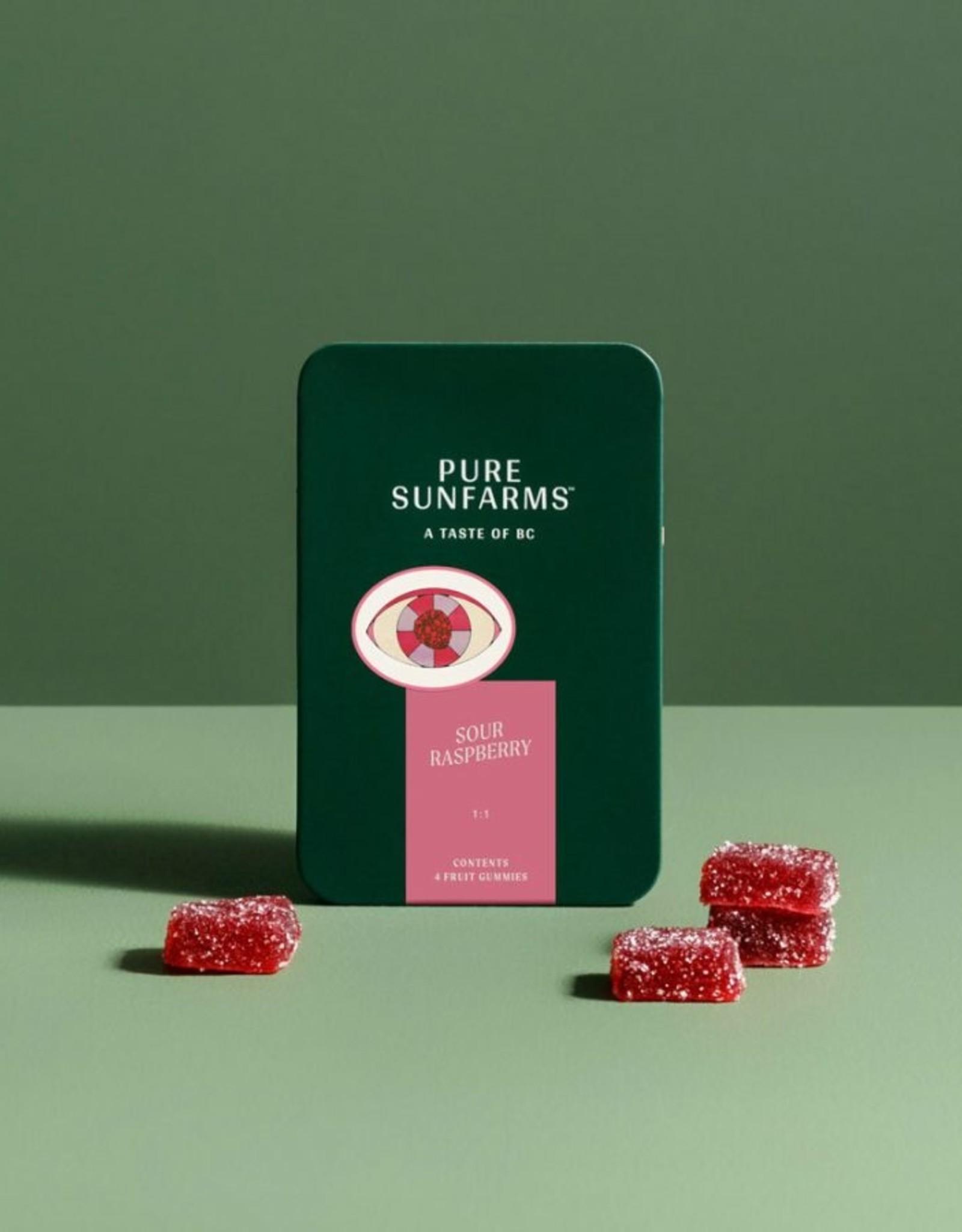Pure Sunfarms Pure Sunfarms - Sour Raspberry 1:1 Gummies