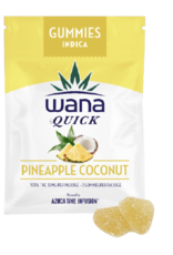 Wana Quick Wana Quick - Pineapple Coconut Indica Sour Gummies
