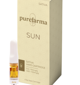 Pure Farma **Pure Farma - Sativa Sun Cartridge - 0.5g