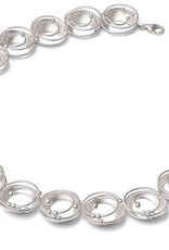 Sterling Silver Atom Statement Necklace