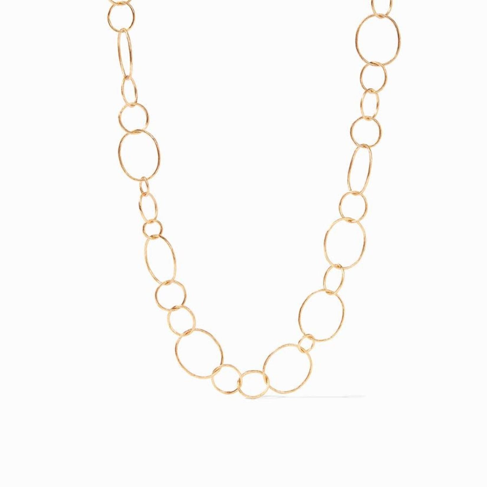 """Julie Vos Colette Textured Link Necklace 39"""""""